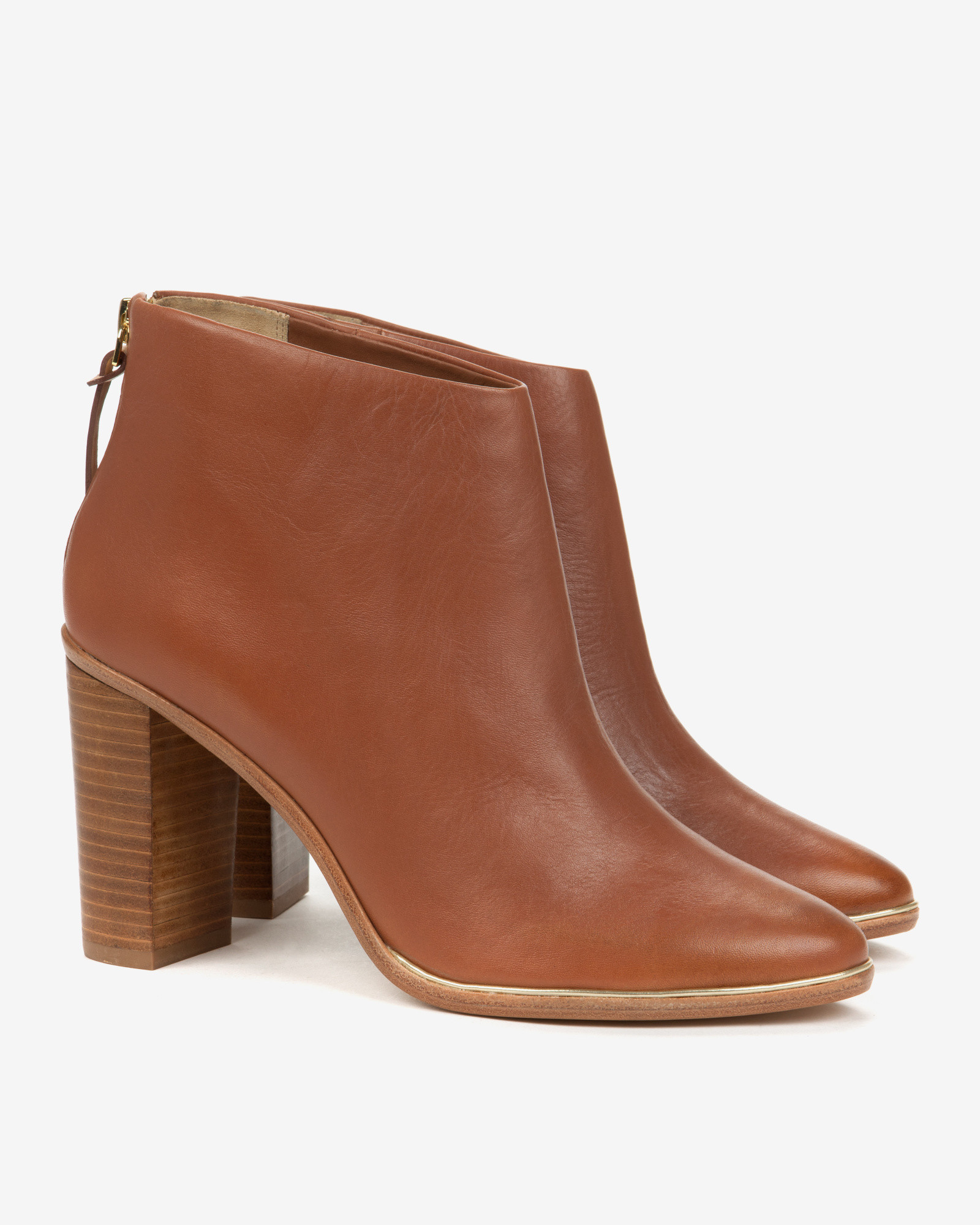 Lyst - Ted Baker Leather Ankle Boots in Brown 6e4983d0cac9