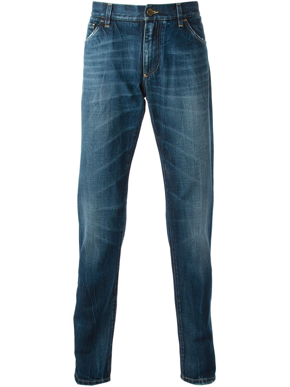 dolce gabbana tapered jeans in blue for men lyst. Black Bedroom Furniture Sets. Home Design Ideas