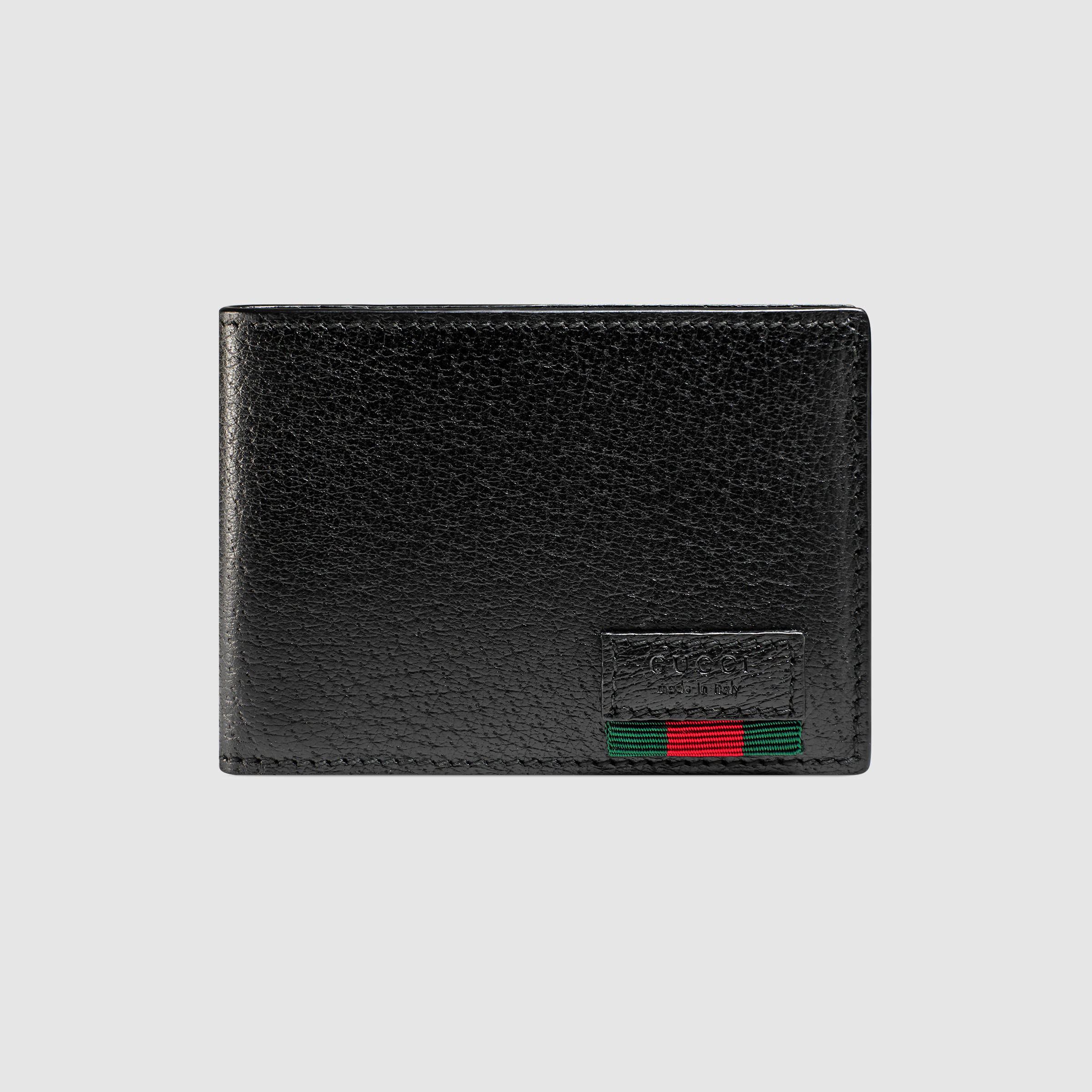 603d8872783f Gucci Leather Bi-fold Wallet With Web | Stanford Center for ...