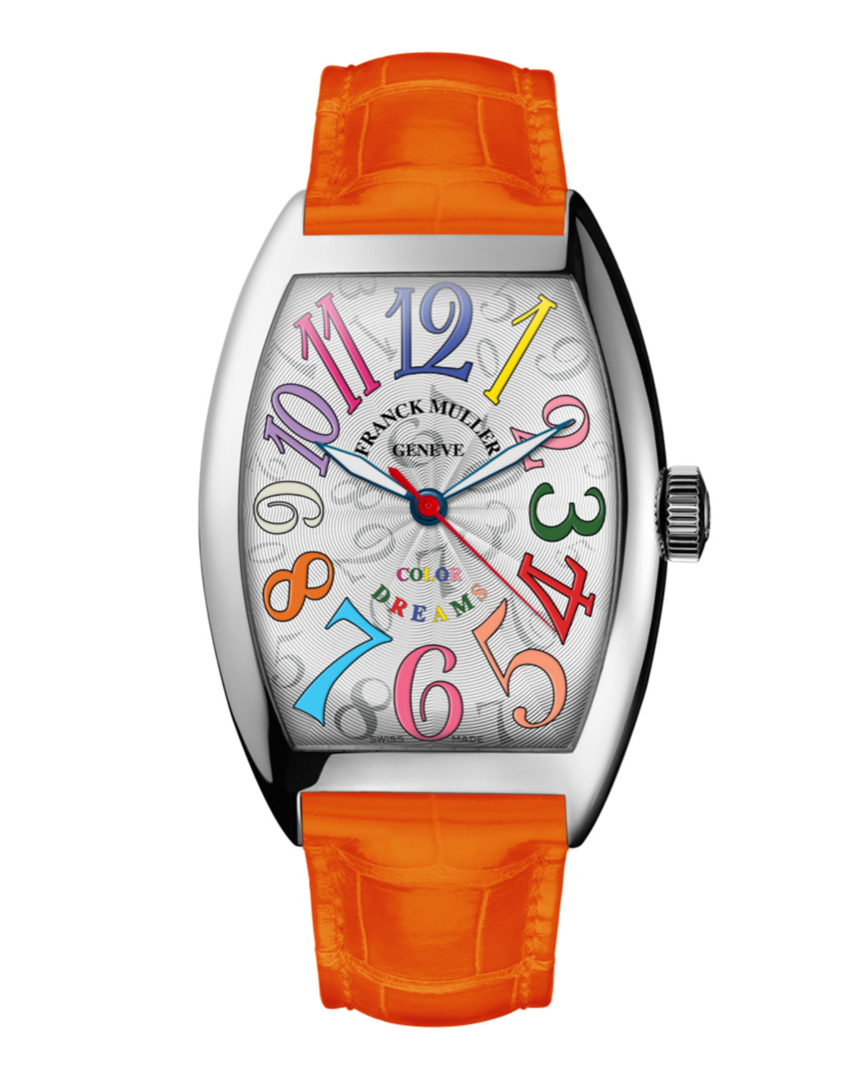 Lyst franck muller ladies color dreams curvex watch with alligator strap in metallic for Franck muller watches