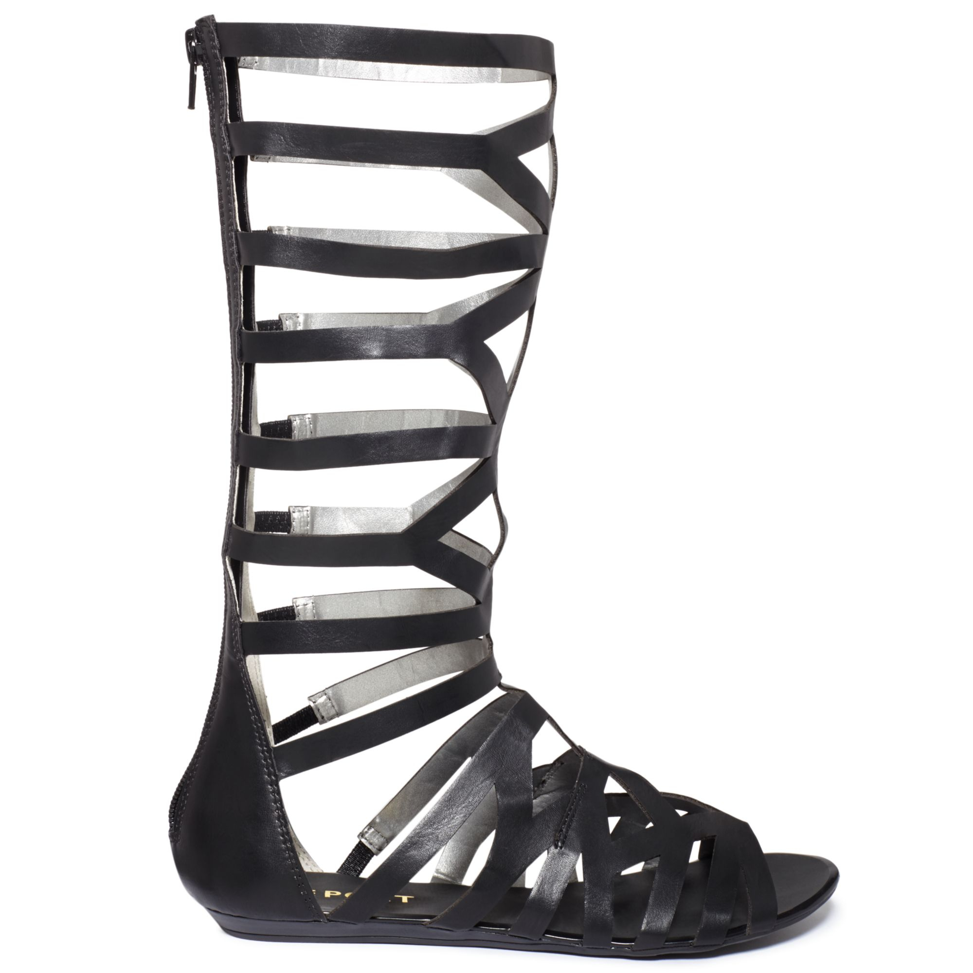 Report Adelyn Tall Shaft Gladiator Sandals In Black Lyst