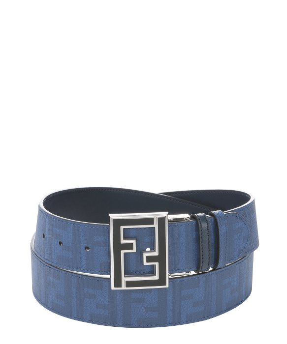 a8ab89a3ec34 ... clearance lyst fendi blue coated canvas and black leather reversible  belt in c1b85 2b335
