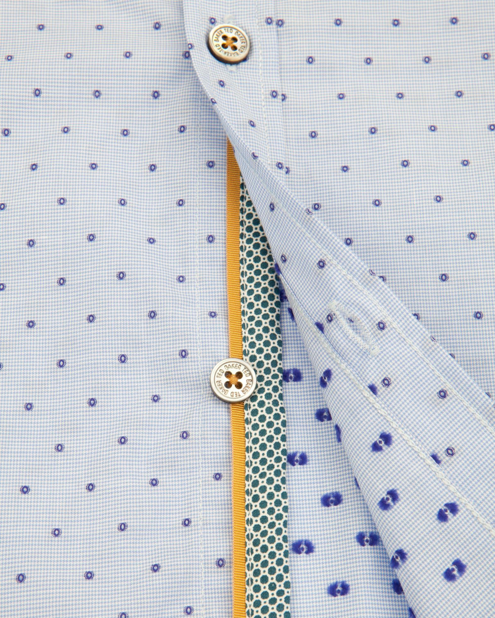 ted baker cotton fil coup shirt in blue for men lyst. Black Bedroom Furniture Sets. Home Design Ideas