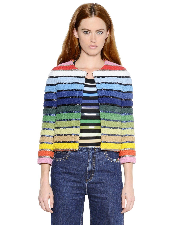 2e2ecdf0ce5 Sonia Rykiel Multicolor Striped Jacket - Lyst