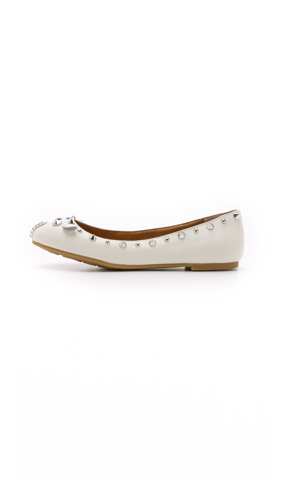 5f89acc7c18c8 Lyst - Marc By Marc Jacobs Punk Mouse Ballerina Flats - Talc in White