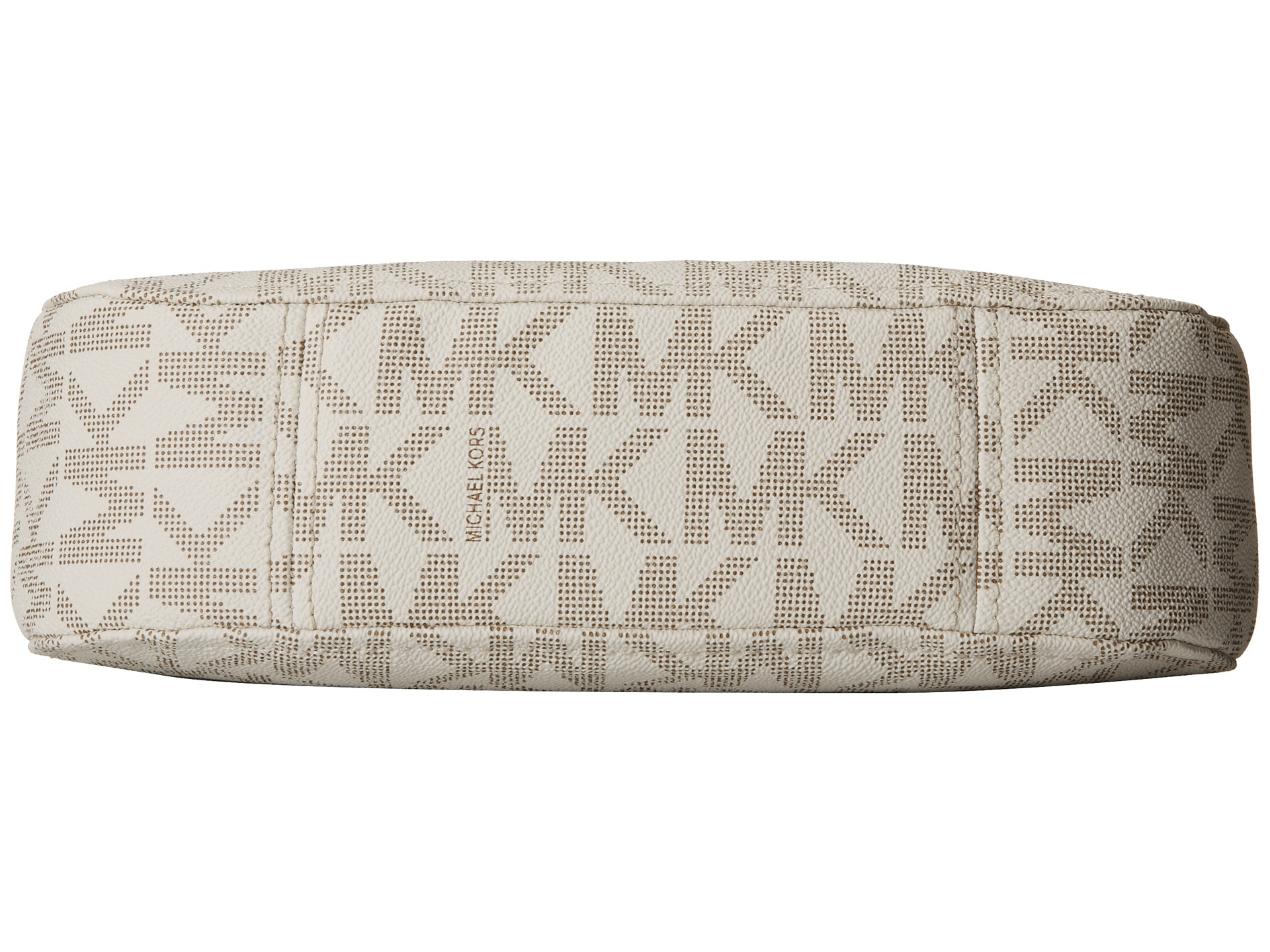 michael michael kors white jet set item medium tassel convertible. Black Bedroom Furniture Sets. Home Design Ideas