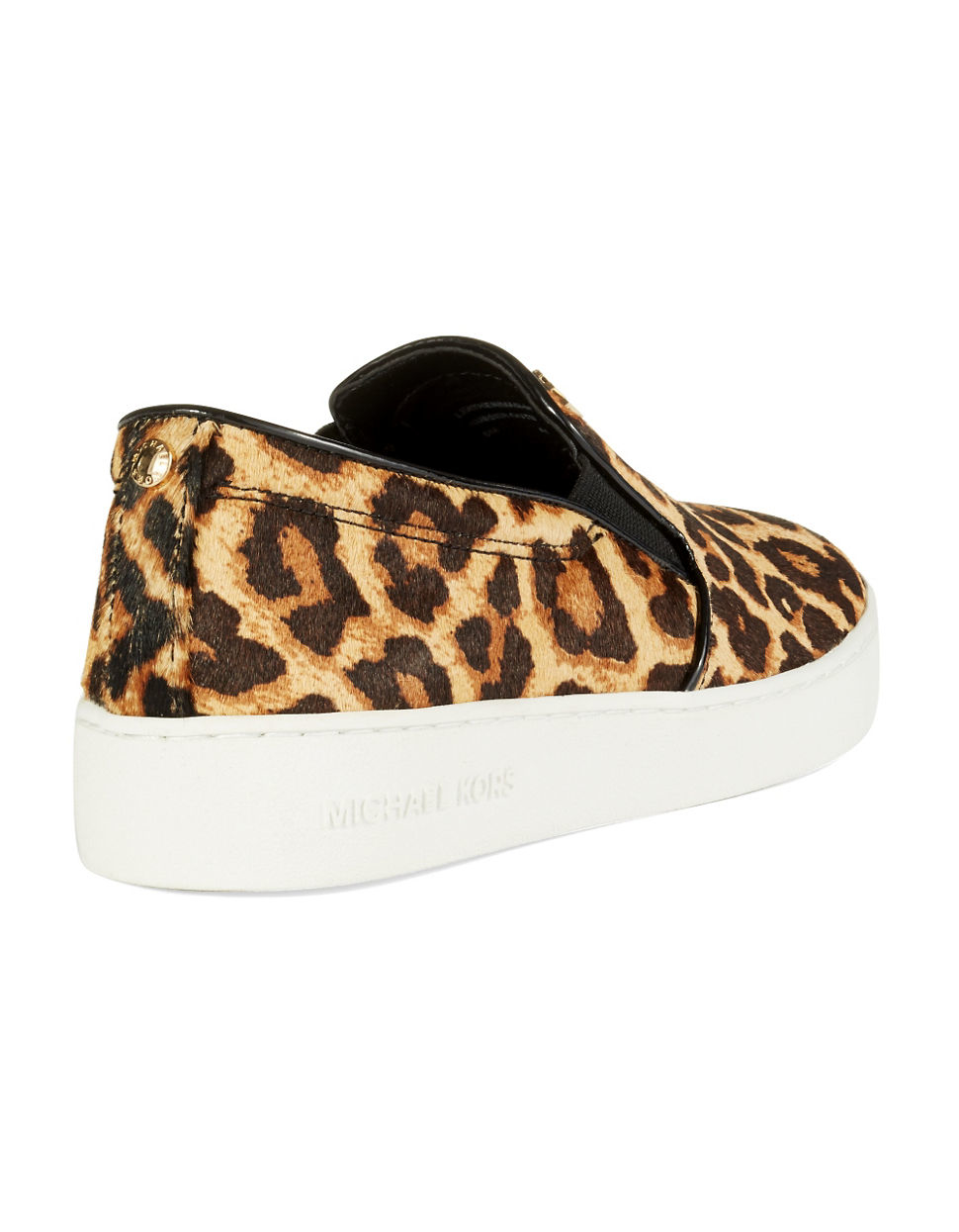 michael michael kors keaton leopard print calf hair sneakers in animal beige lyst. Black Bedroom Furniture Sets. Home Design Ideas