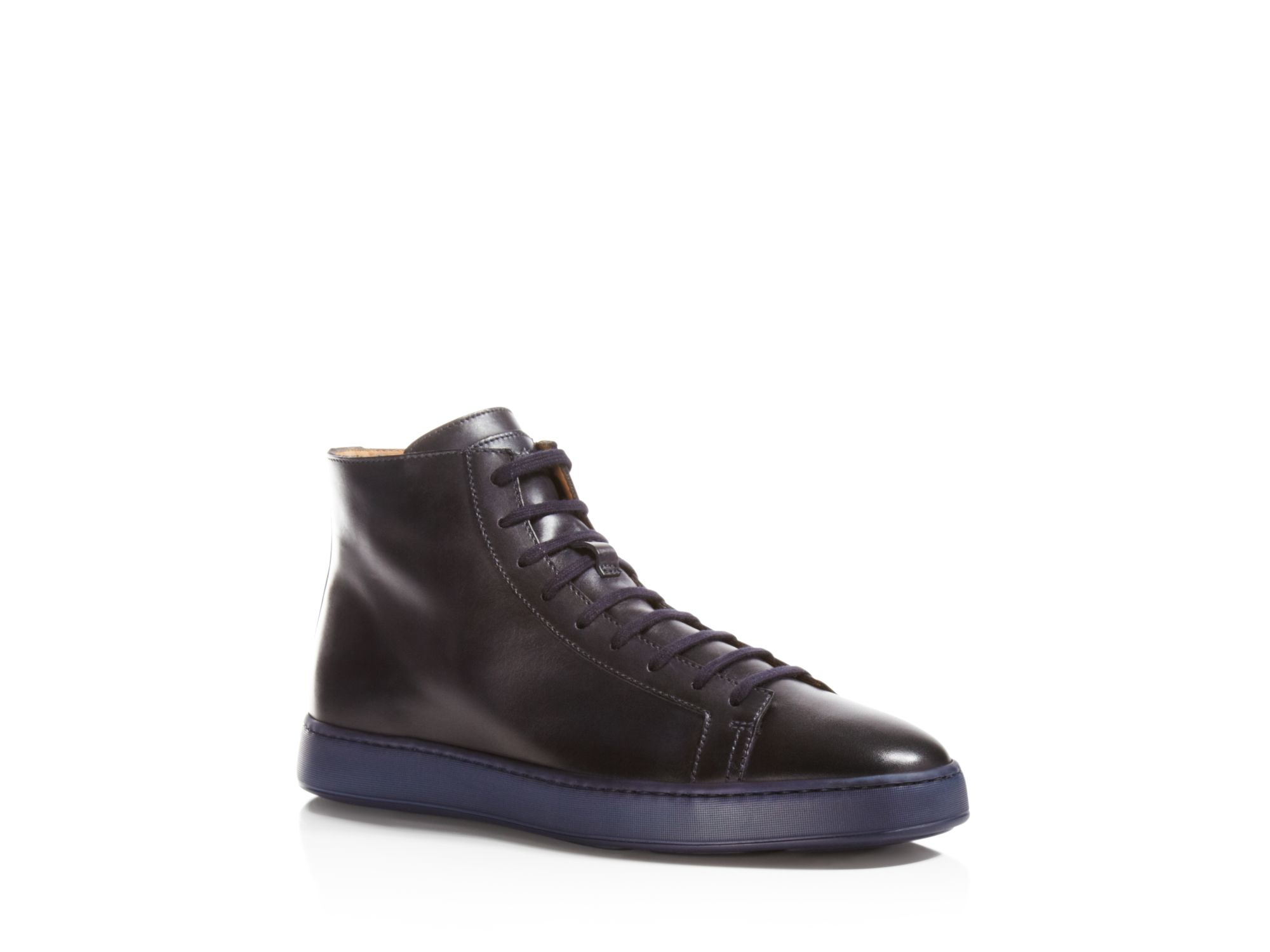 High top sneakers black Santoni 1Kxp8xeA