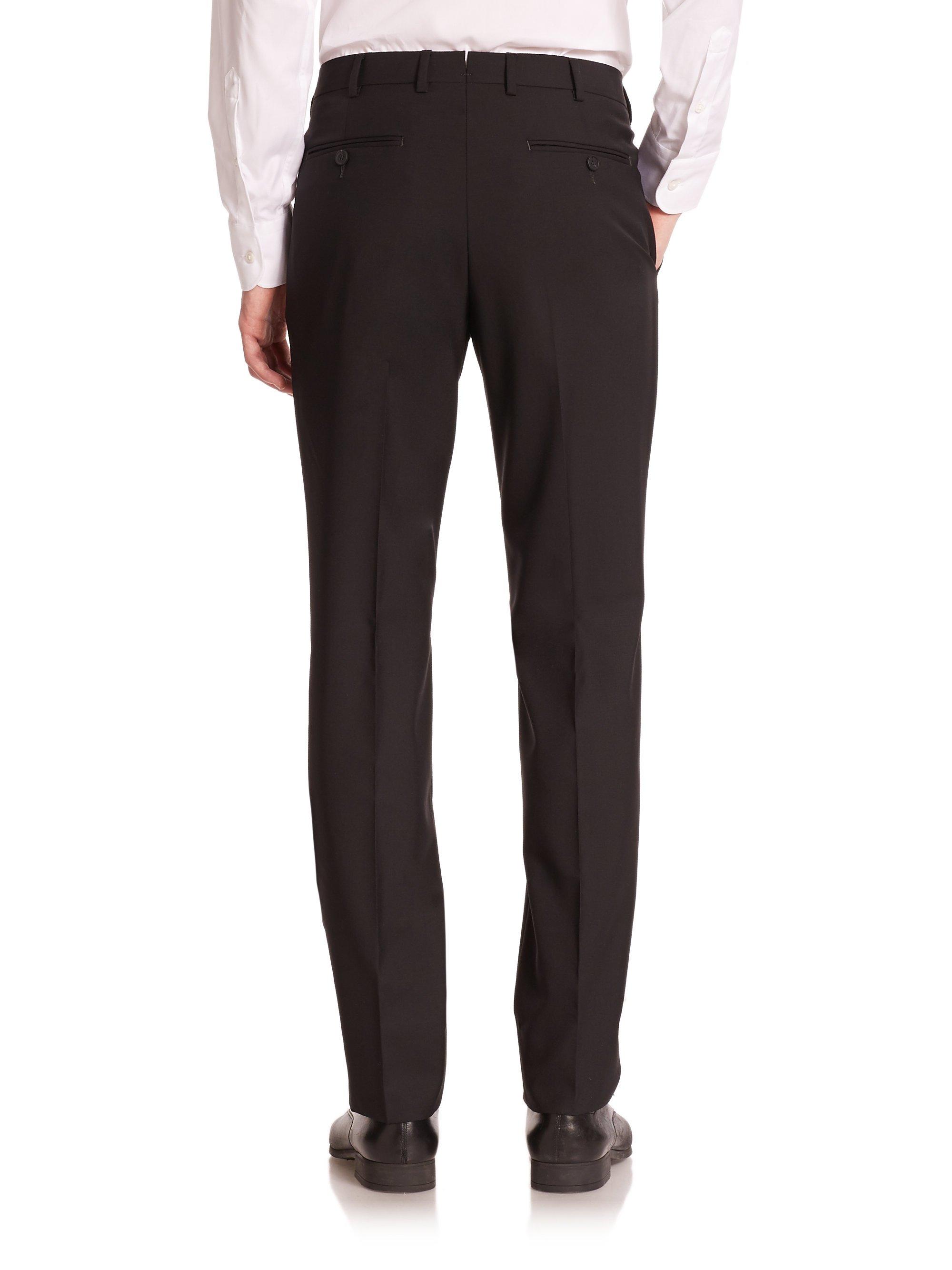 Lyst - Z Zegna Wool Dress Pants in Black for Men