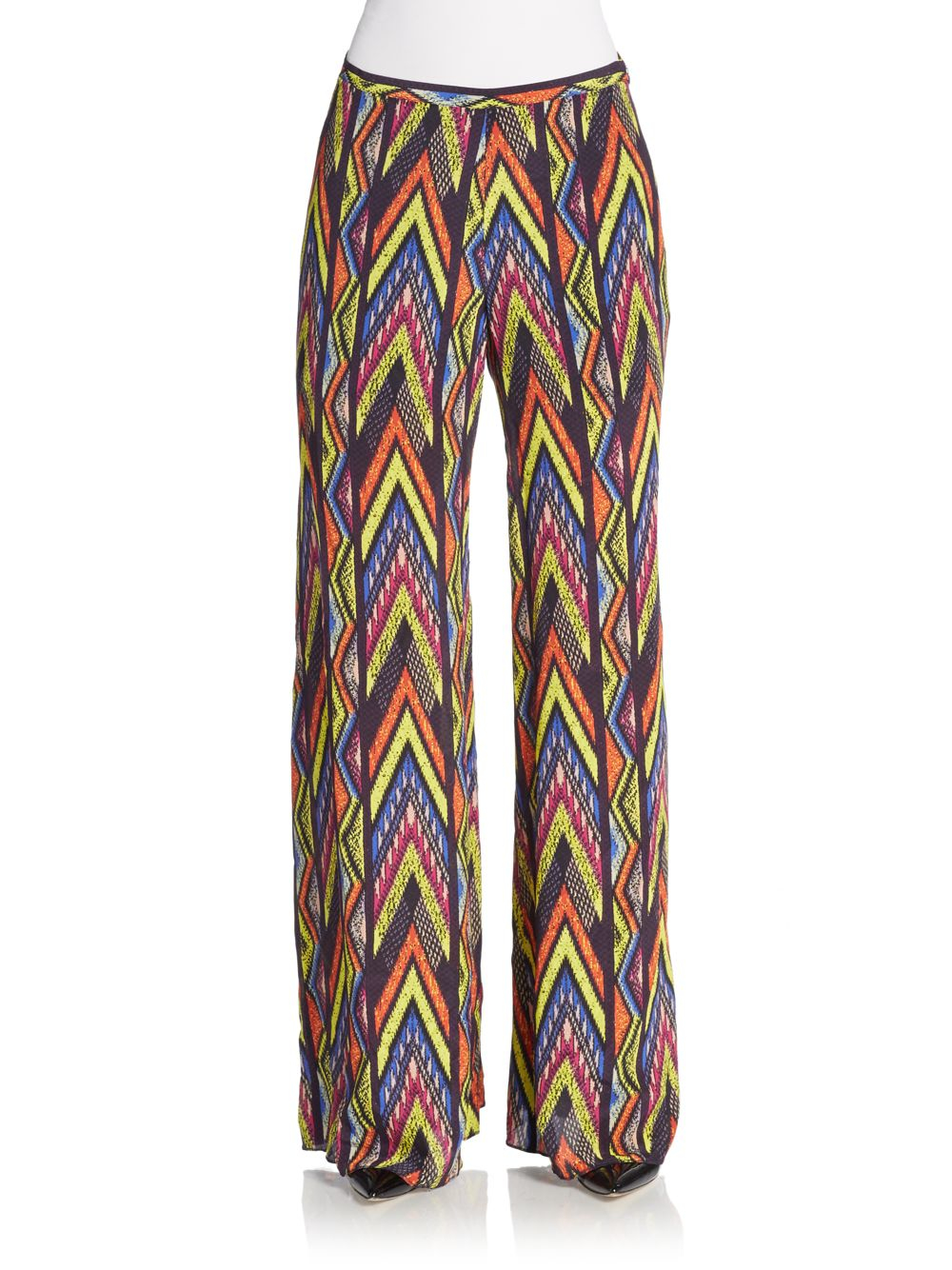 Outlet Factory Outlet Silk Wide Leg Trousers Missoni Free Shipping Excellent 4tJILD
