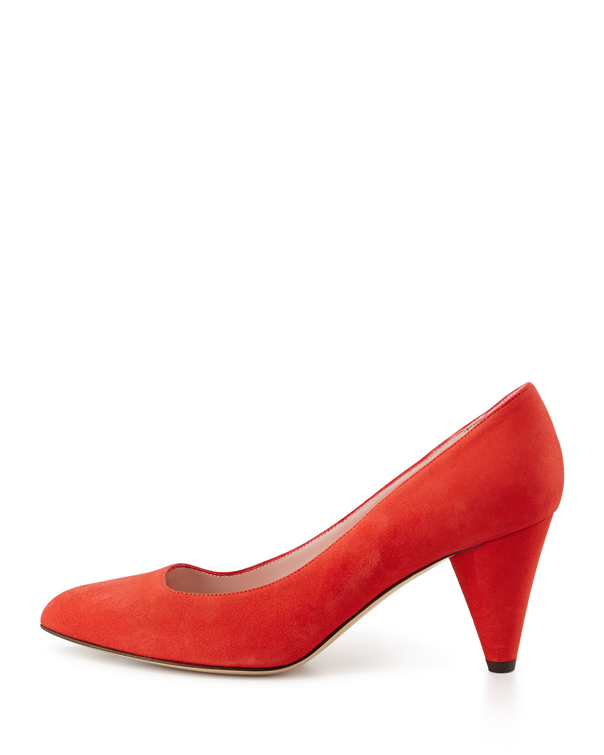 5c0e78a97d01 Lyst - Kate Spade New York Yanni Suede Mid-Heel Pump in Red