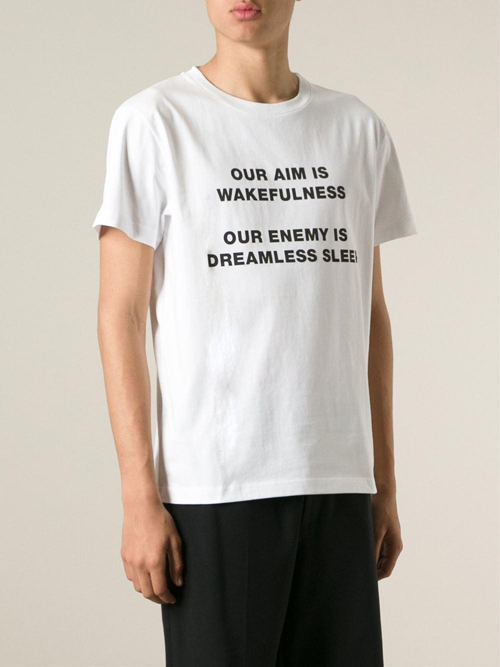 cross print T-shirt - White Yang Li Sale New Styles 5faMNDf