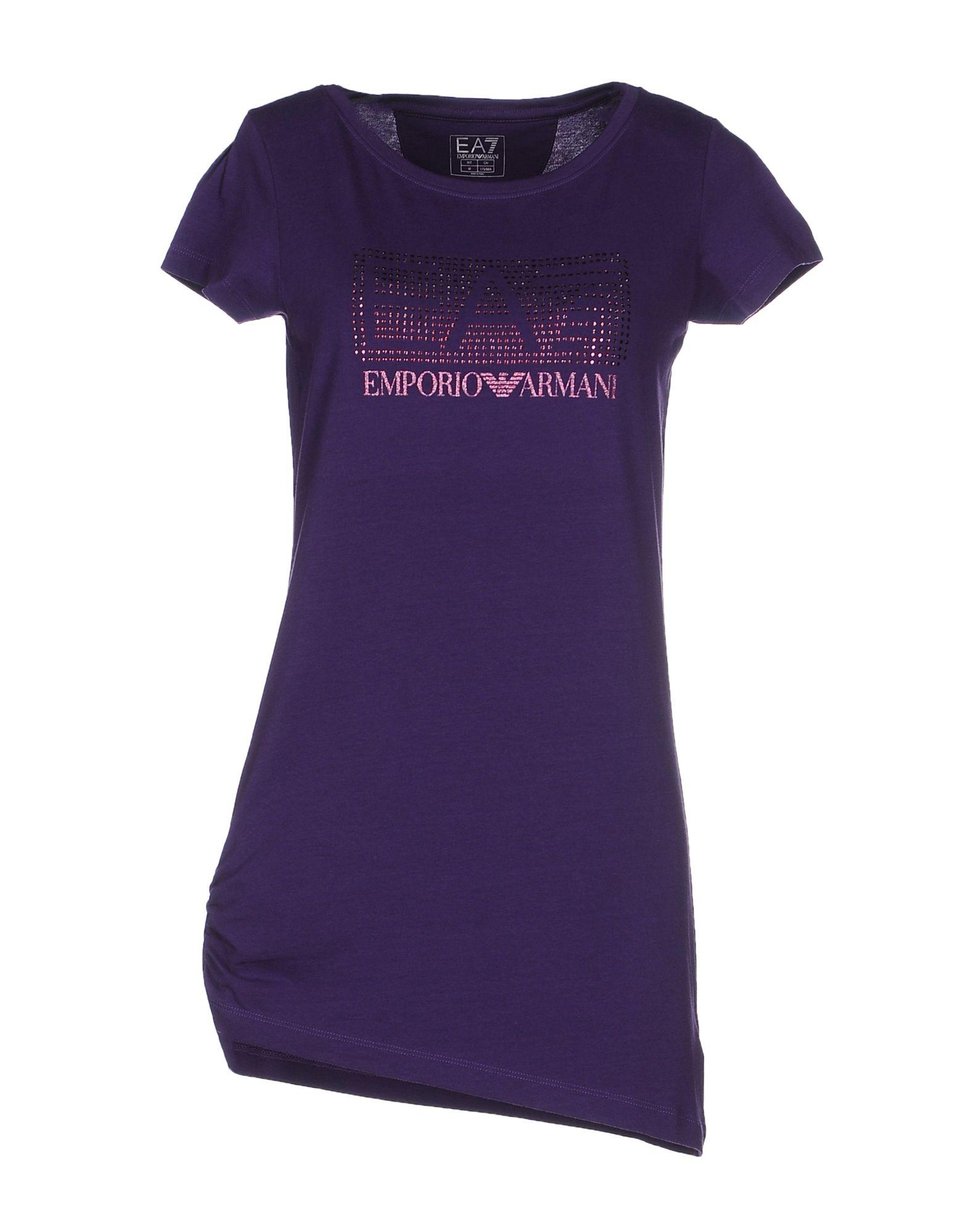 Ea7 T-shirt in Purple (Dark purple) | Lyst