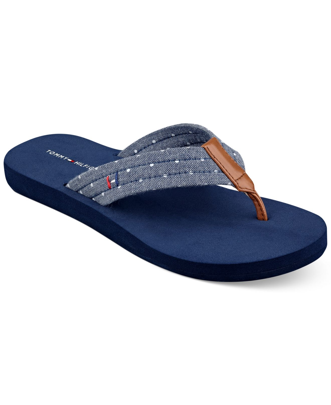 flip flops by tommy hilfiger man made upper round open toe flip. Black Bedroom Furniture Sets. Home Design Ideas