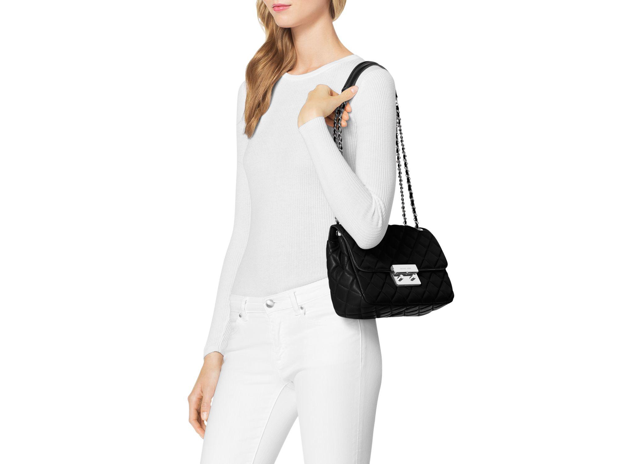 Lyst Michael Michael Kors Sloan Large Chain Shoulder Bag