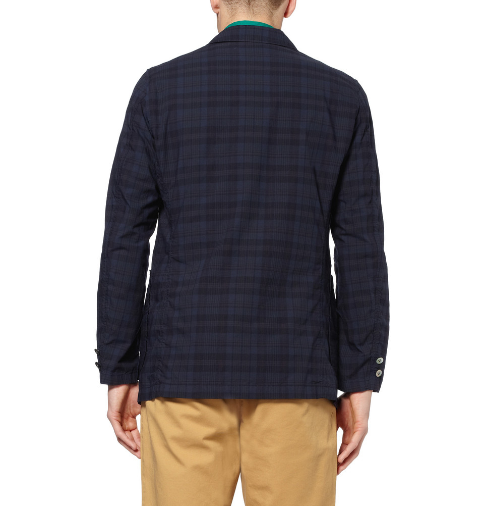 Lyst Beams Plus Unstructured Lightweight Check Cotton