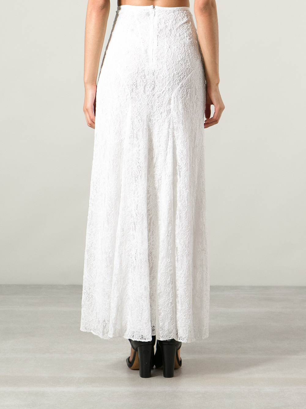 marant floral lace maxi skirt in white lyst
