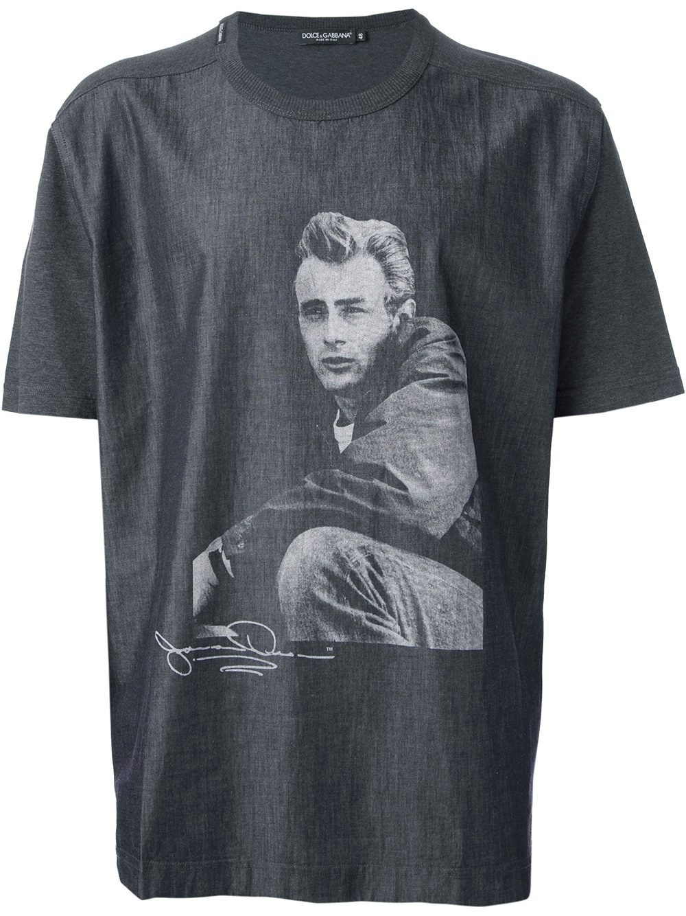 0c364488c91bc8 Dolce & Gabbana 'James Dean' T-Shirt in Blue for Men - Lyst