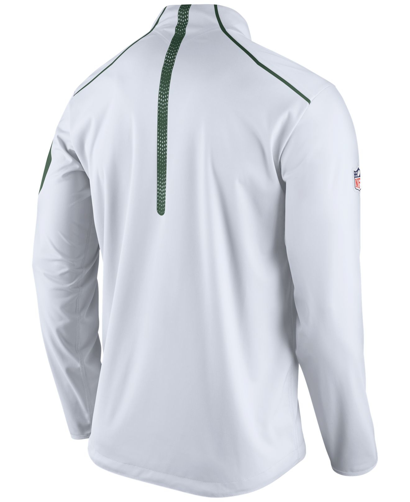 7fe41dfec5d1 Lyst - Nike Men s New York Jets Alpha Fly Rush Quarter-zip Jacket in ...