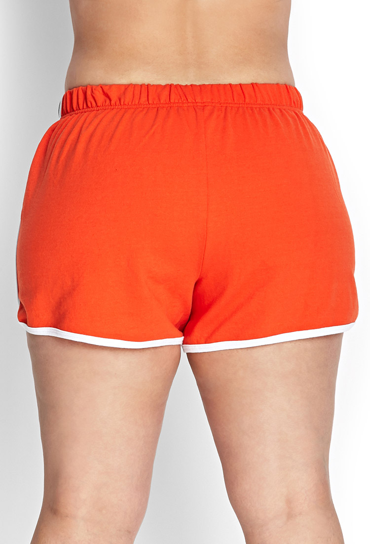 A pair of knit dolphin shorts featuring a smocked waist with a self-tie drawstring, a contrast bottom hem, and contrast piping on the sides. Find this Pin and more on Lounge and Workout Clothes by Amy Sanders. Product Name:High-Rise Cuffed Woven Shorts.