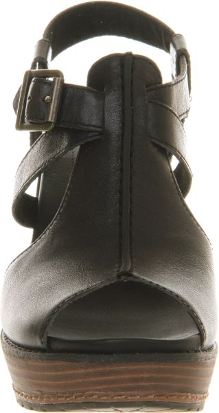 Timberland Ek Danforth Ankle Strap Wedge In Black Lyst