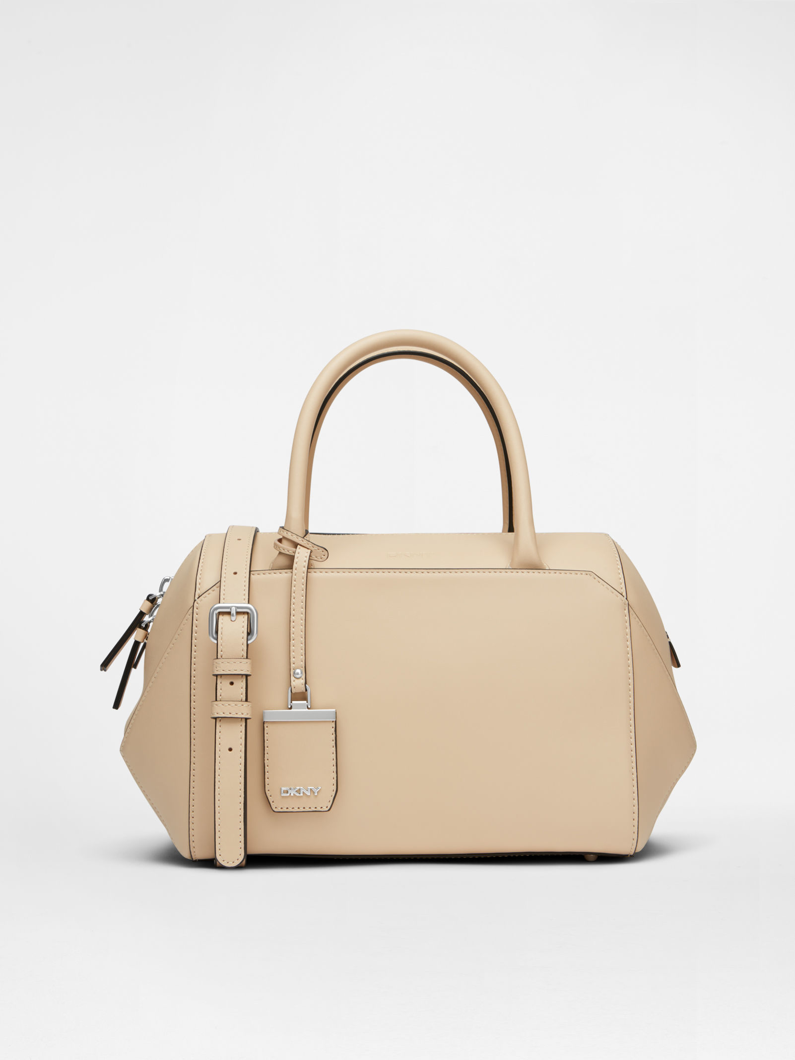 Dkny 3d Leather Satchel in Natural | Lyst