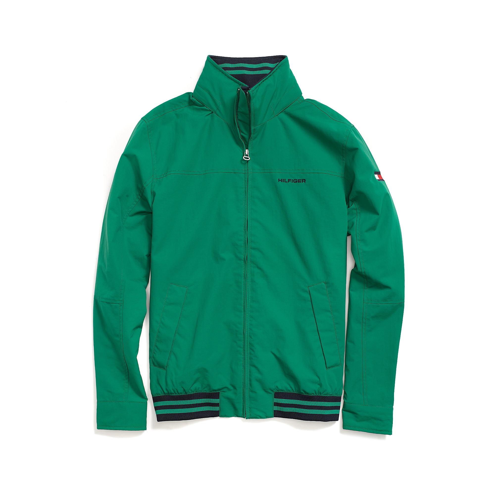 tommy hilfiger regatta jacket in green for men verdant green. Black Bedroom Furniture Sets. Home Design Ideas