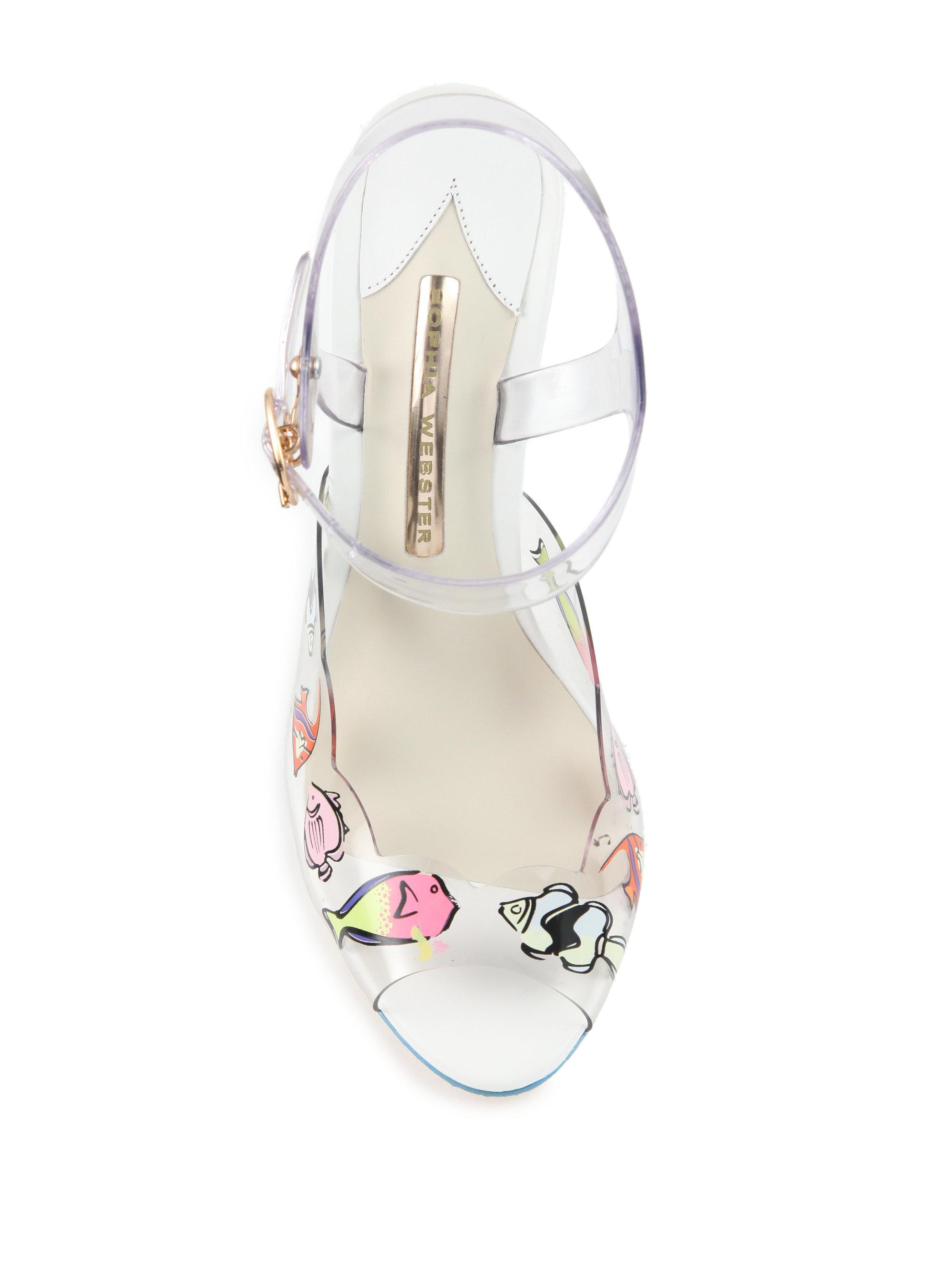 01204f3e859cc Lyst - Sophia Webster Wanda Sealife Jelly Sandals in White