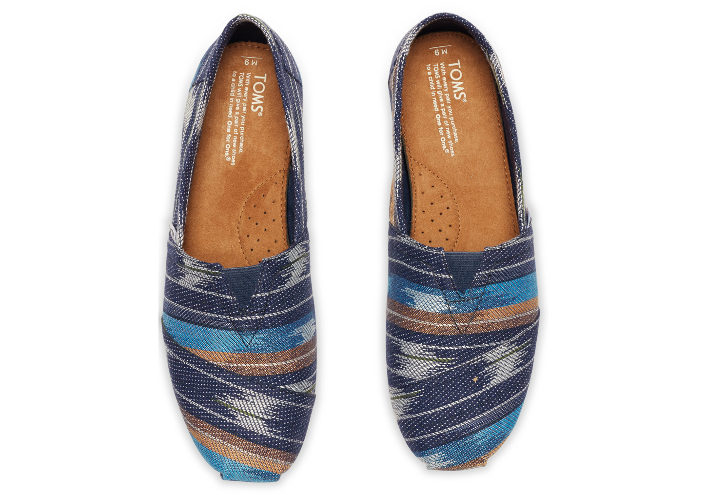 395ad25aa7a Lyst - TOMS Eclipse Cultural Woven Men s Classics in Blue for Men