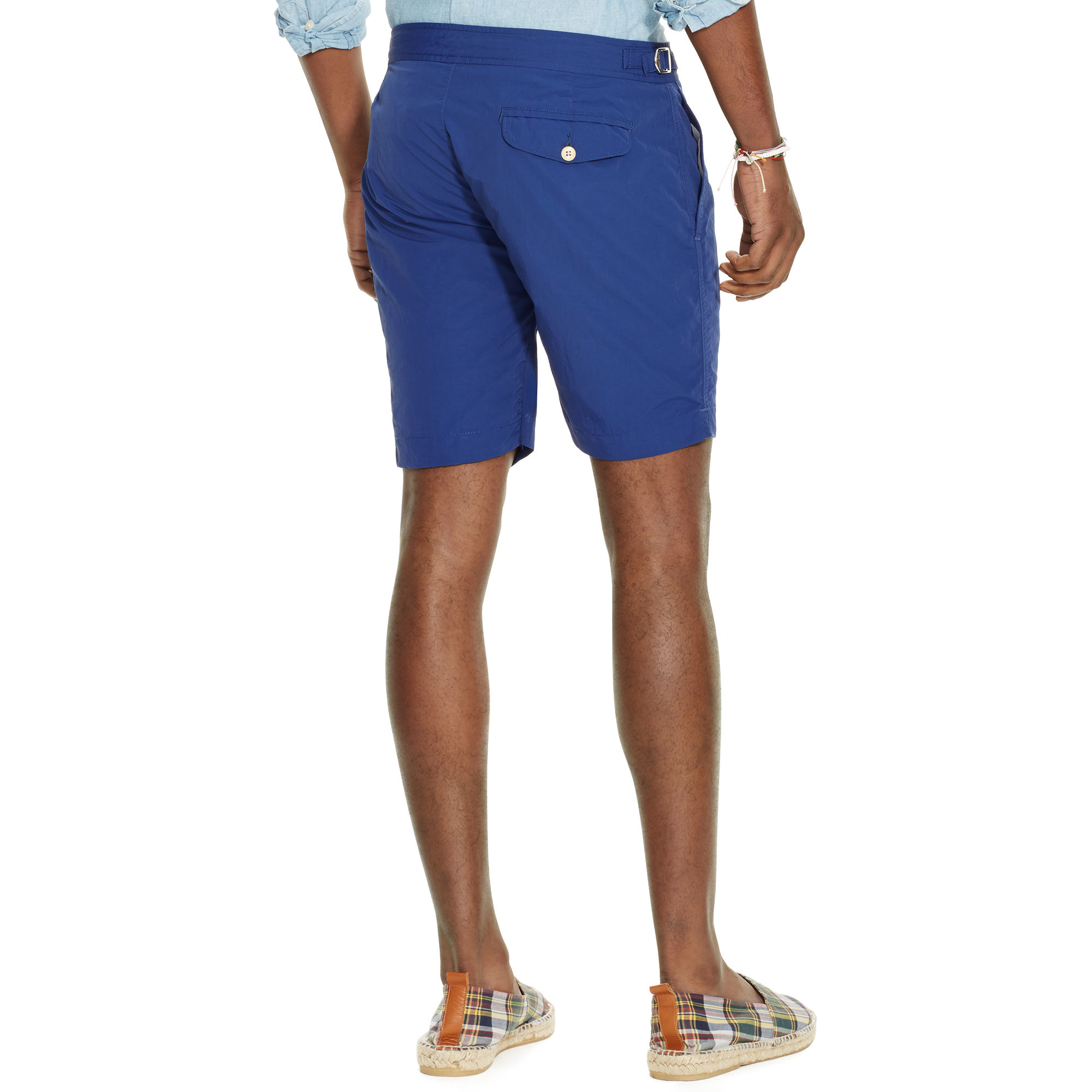 86fbb7f950 Polo Ralph Lauren 7-inch Monaco Solid Swim Trunk in Blue for Men - Lyst