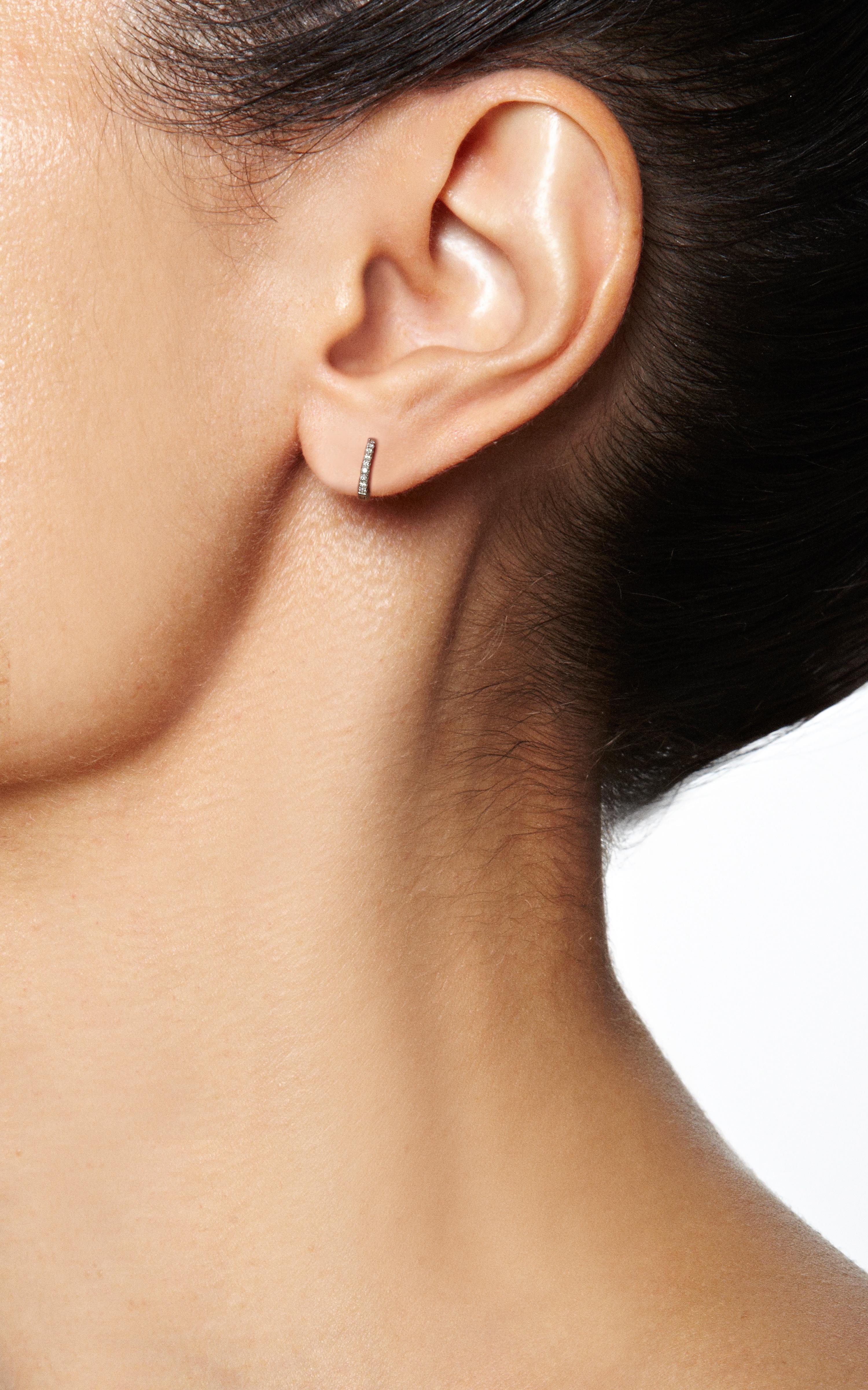 Maria Tash Diamond Eternity 18kt gold and diamond earring 6AuL6zMU
