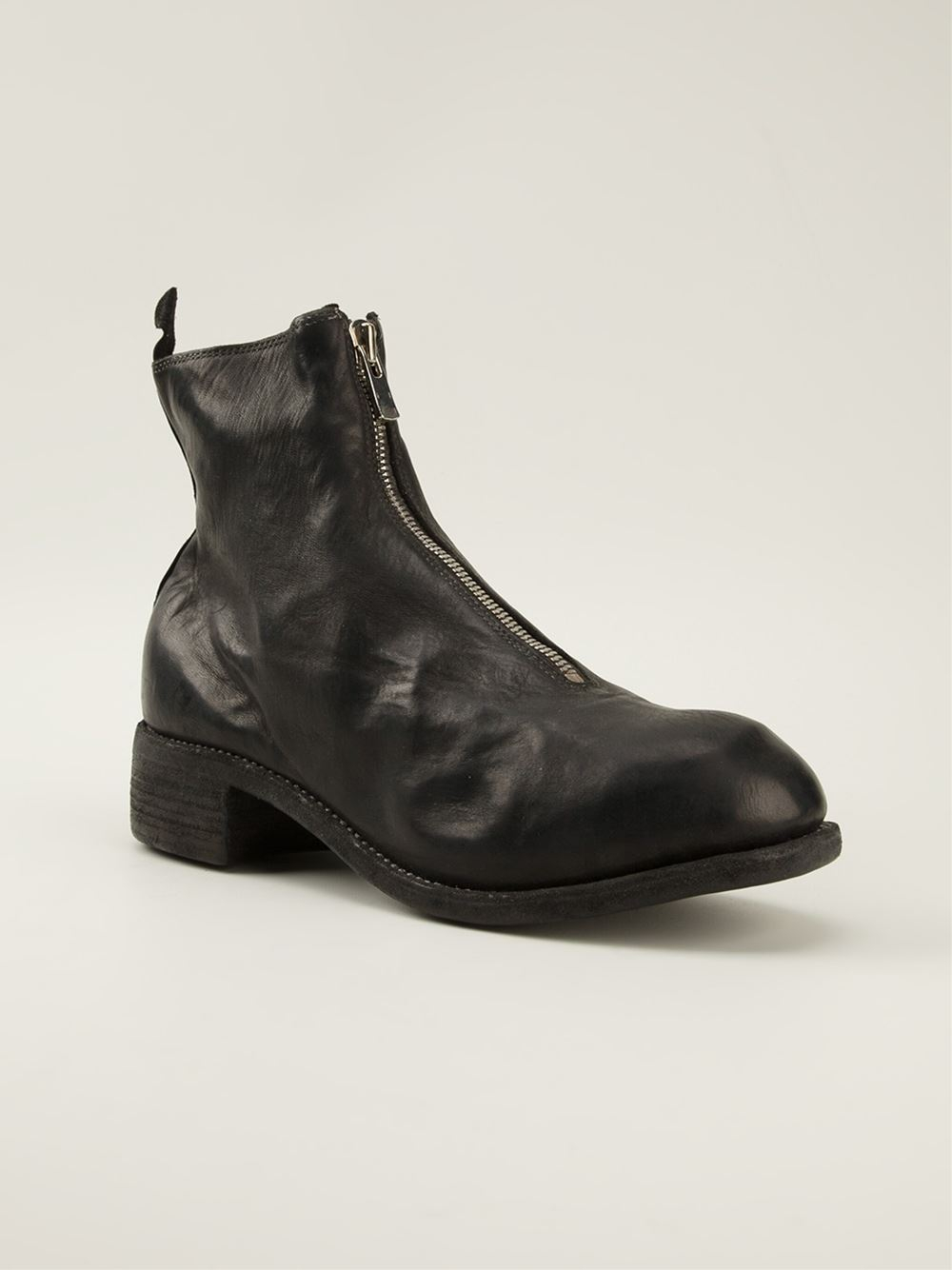 Guidi Front Zip Boots In Black For Men Lyst