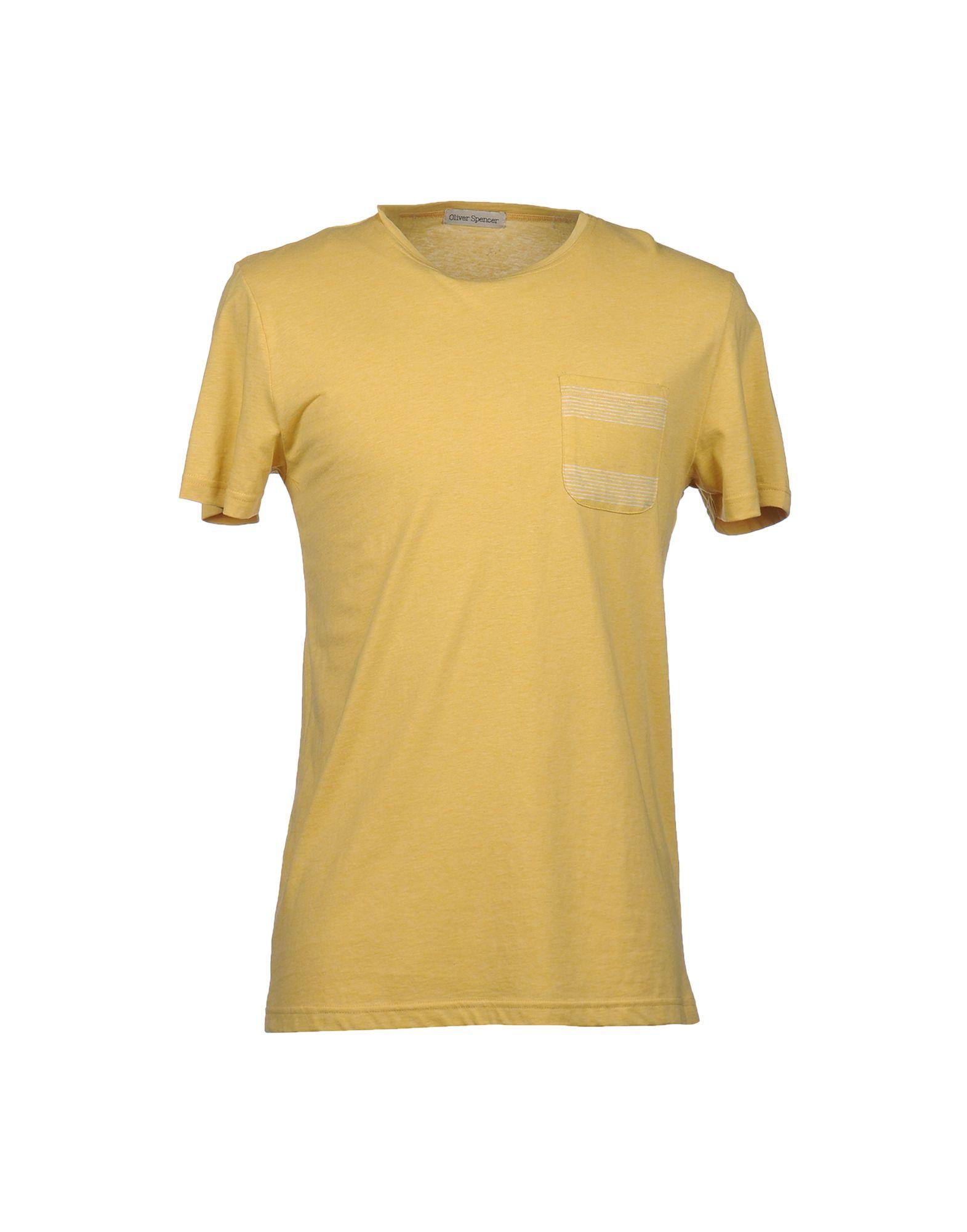 oliver spencer short sleeve t shirt in yellow for men lyst. Black Bedroom Furniture Sets. Home Design Ideas