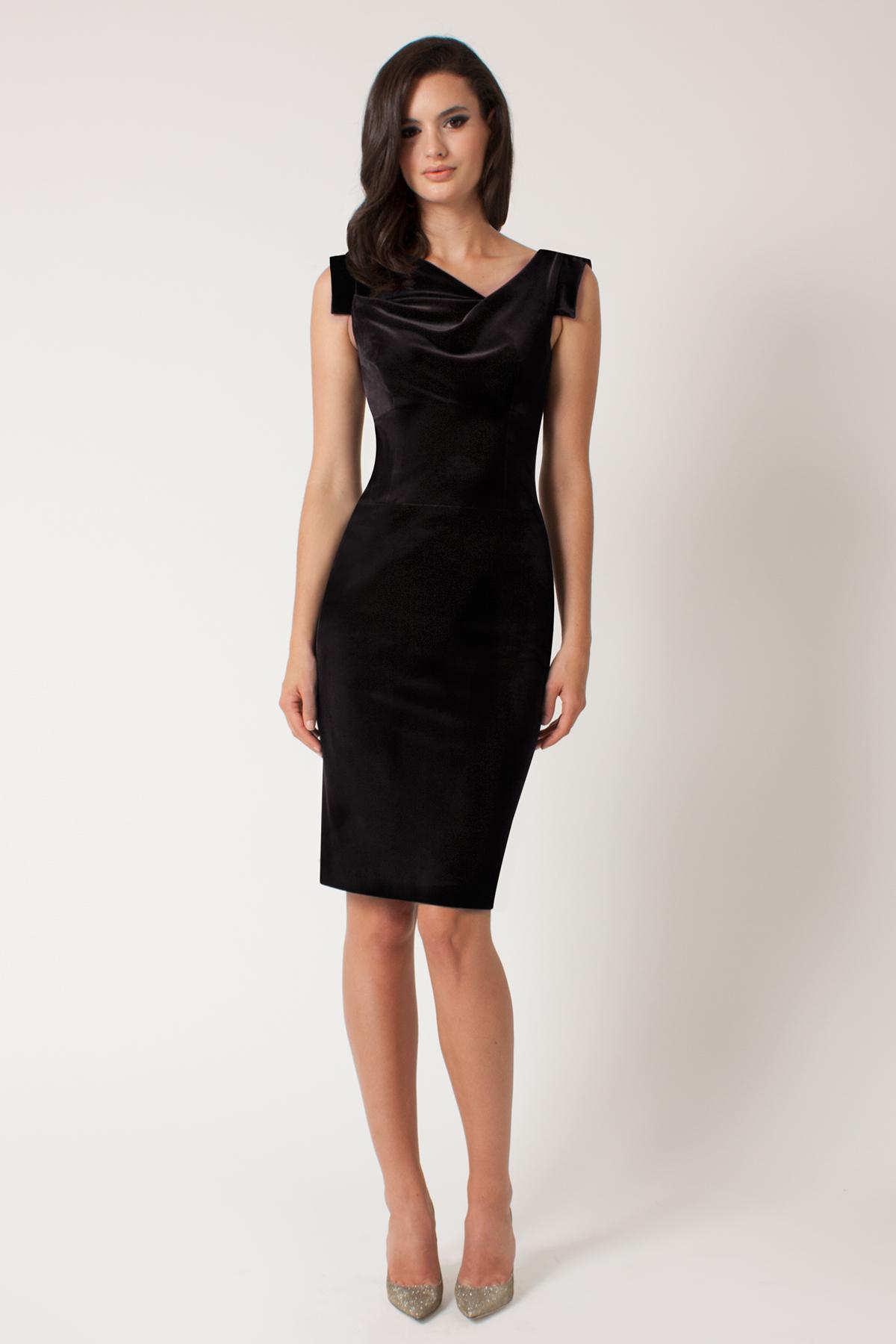 Black halo Velvet Jackie O Dress in Black | Lyst