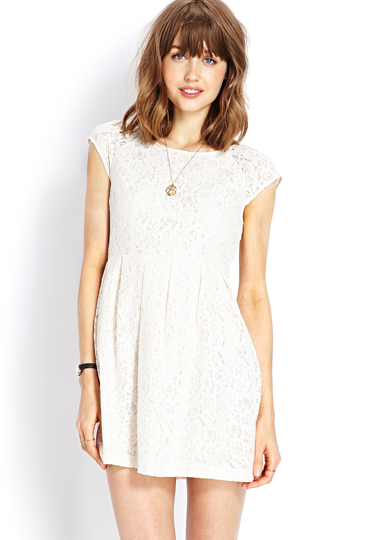 c89b1673952 Forever 21 Ladylike Lace Dress in Beige (Cream)