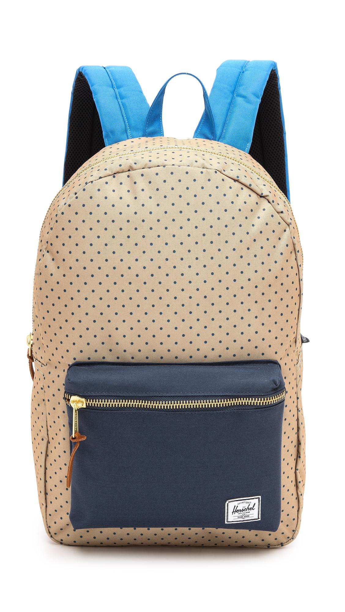2dad291126f7 Lyst - Herschel Supply Co. Settlement Backpack Khaki Polka Dot in Blue