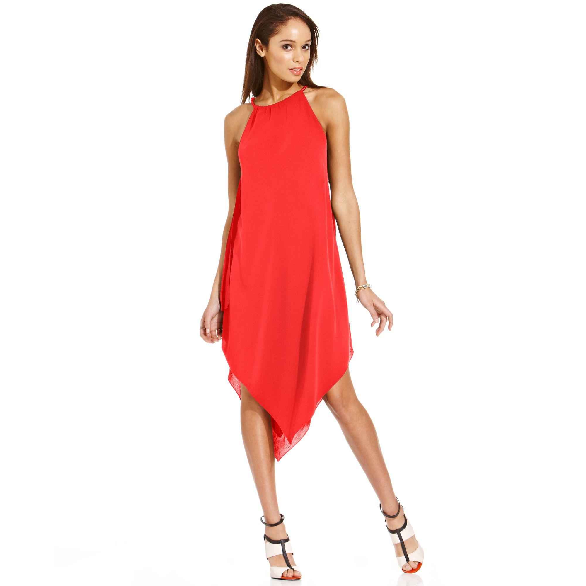 Rachel Roy Discount Gowns: Rachel Rachel Roy Halter Dress In Red (Strawberry)