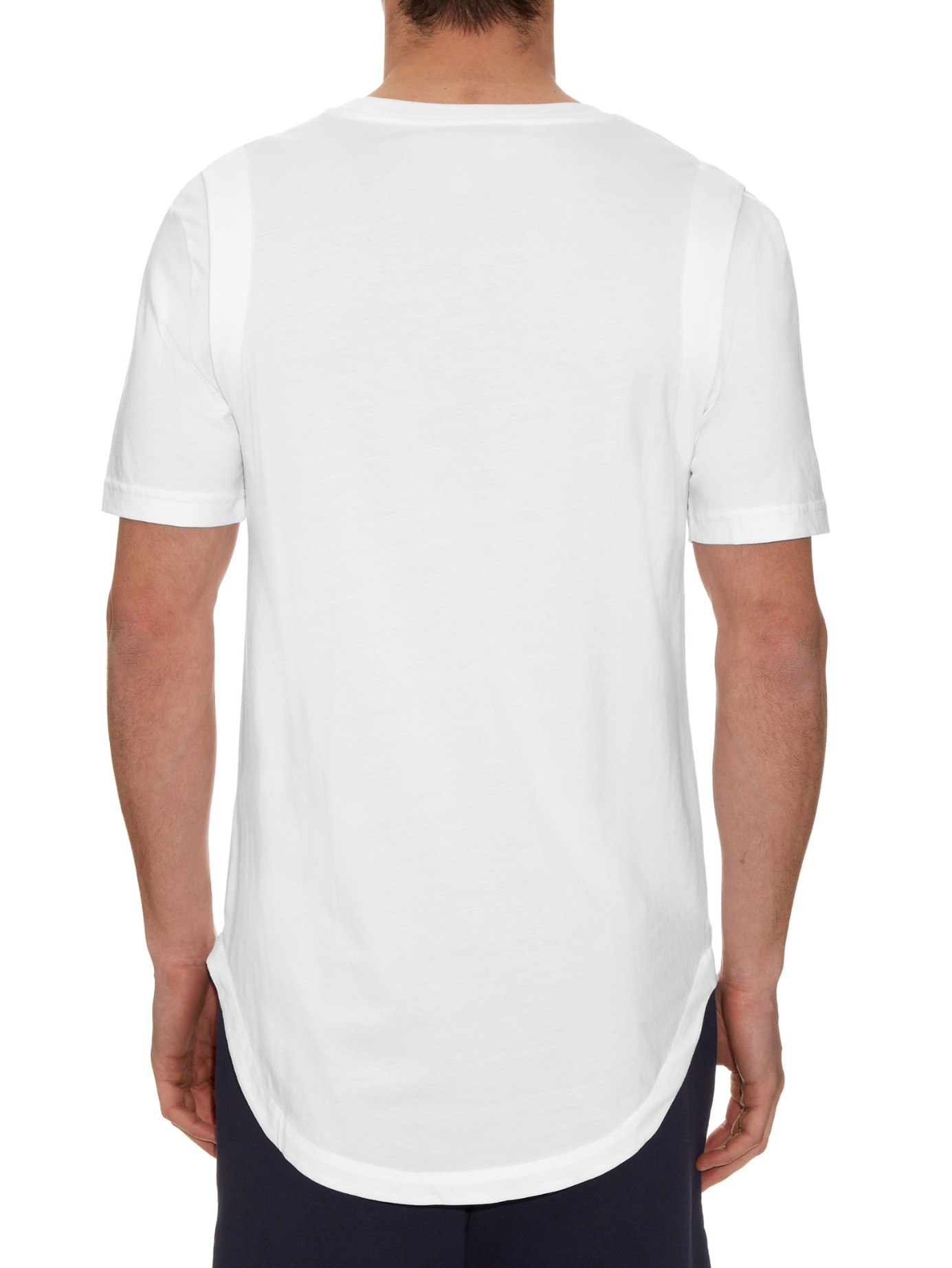 Public school moko pima cotton t shirt in white for men lyst for Pima cotton tee shirts