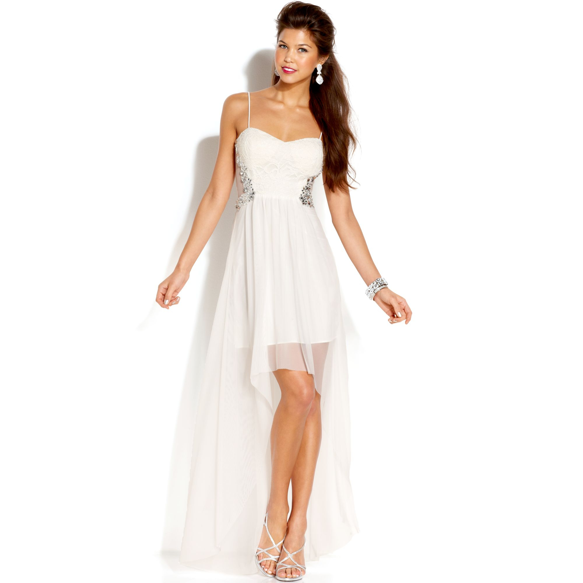white dresses for juniors with sleeves