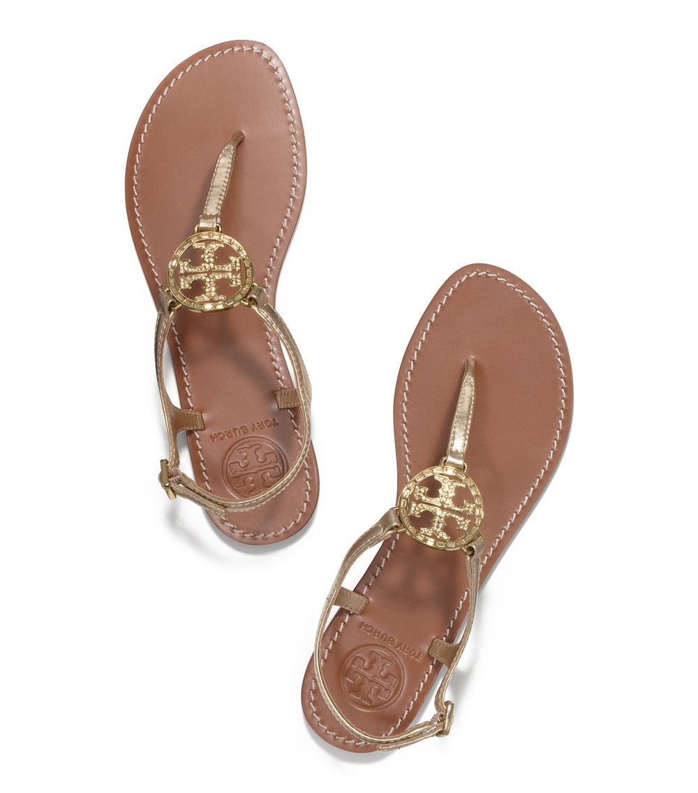 Tory Burch Violet Metallic Thong Sandal In Metallic Lyst