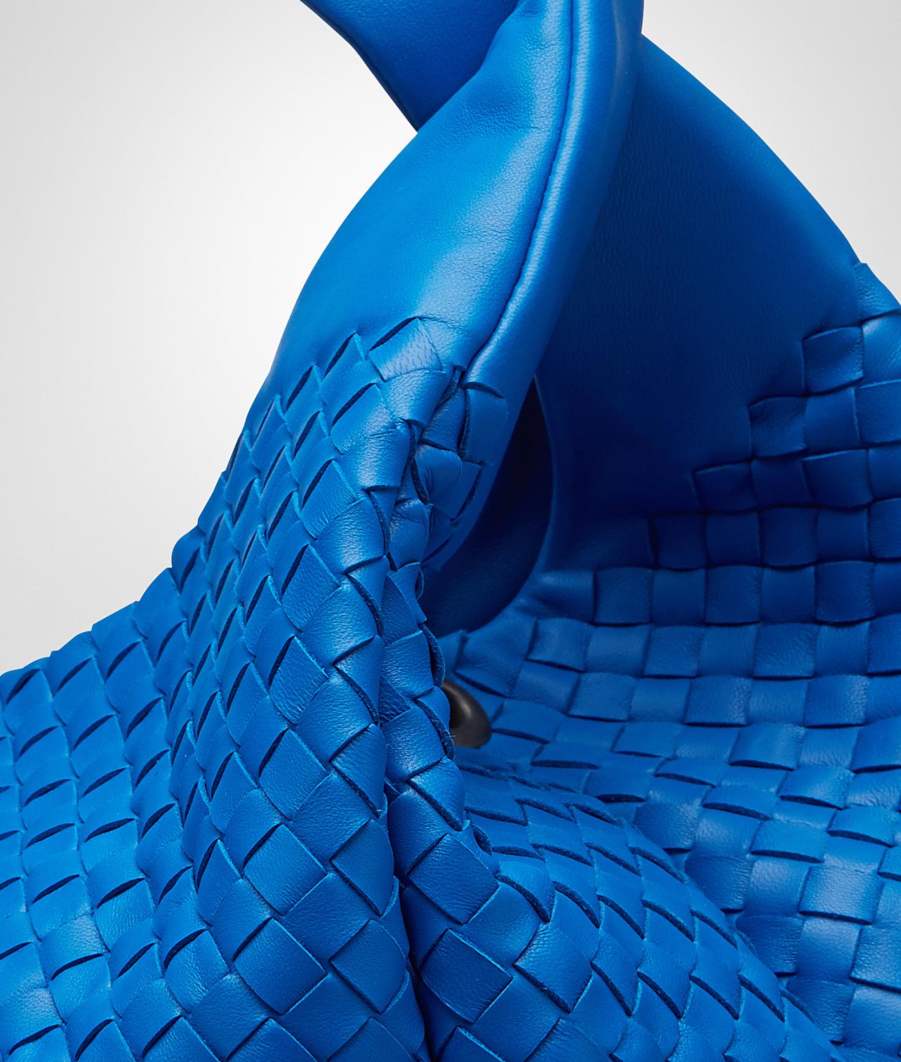 a3082f7b02 Lyst - Bottega Veneta Signal Blue Intrecciato Nappa Campana Bag in Blue