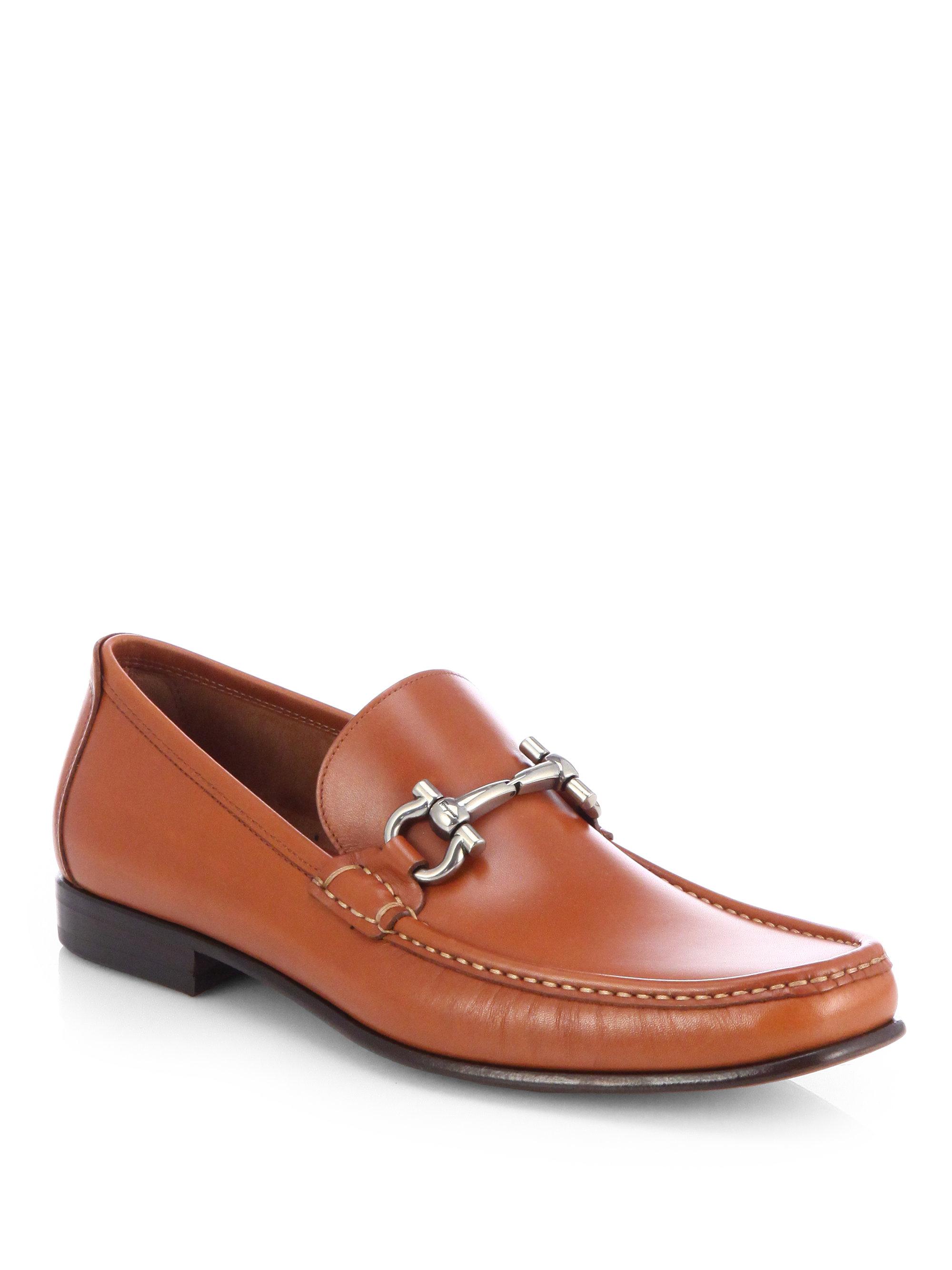 ferragamo giordano bit loafers in brown for men lyst