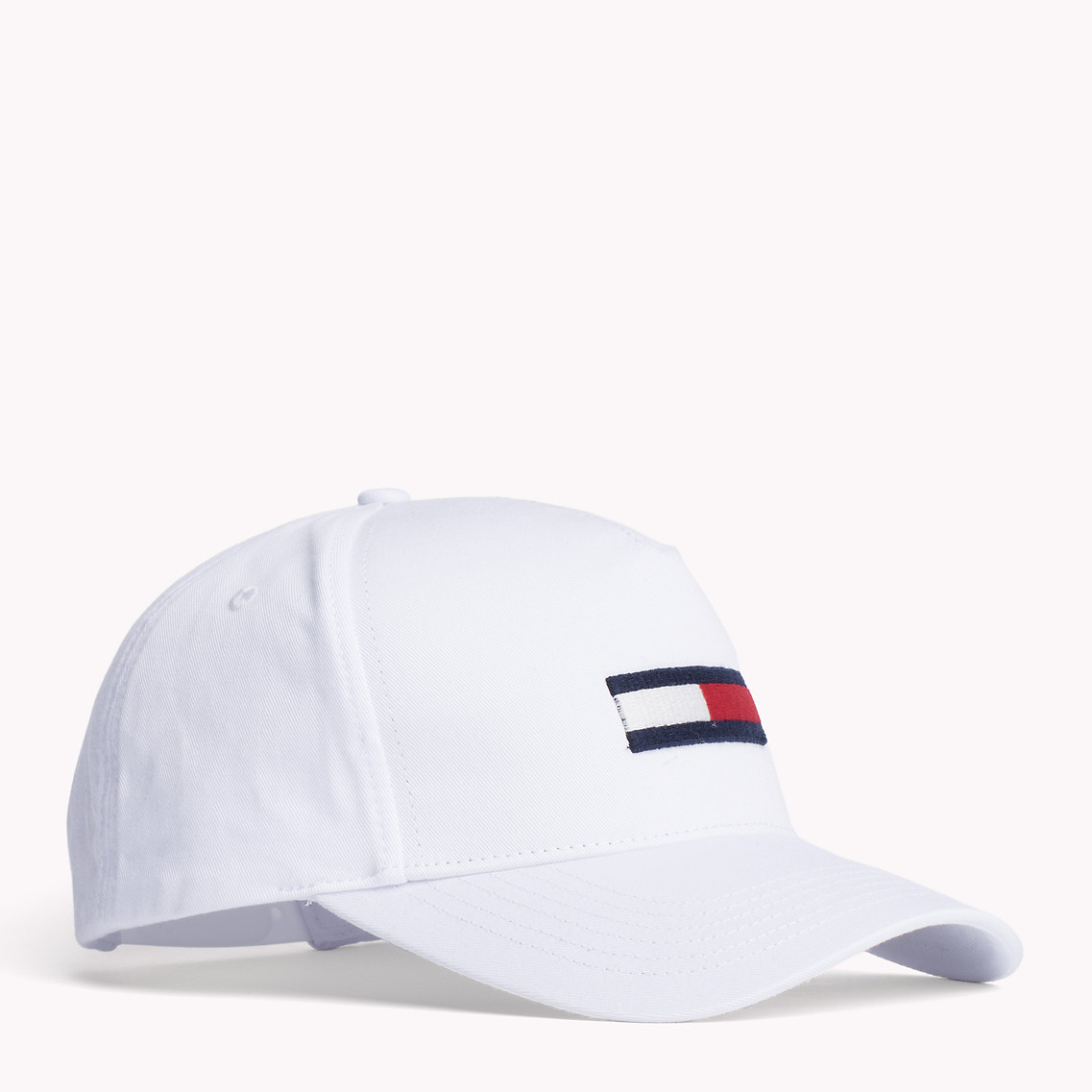 f3ca62652e3 Tommy Hilfiger Flag Logo Cap in White for Men - Lyst