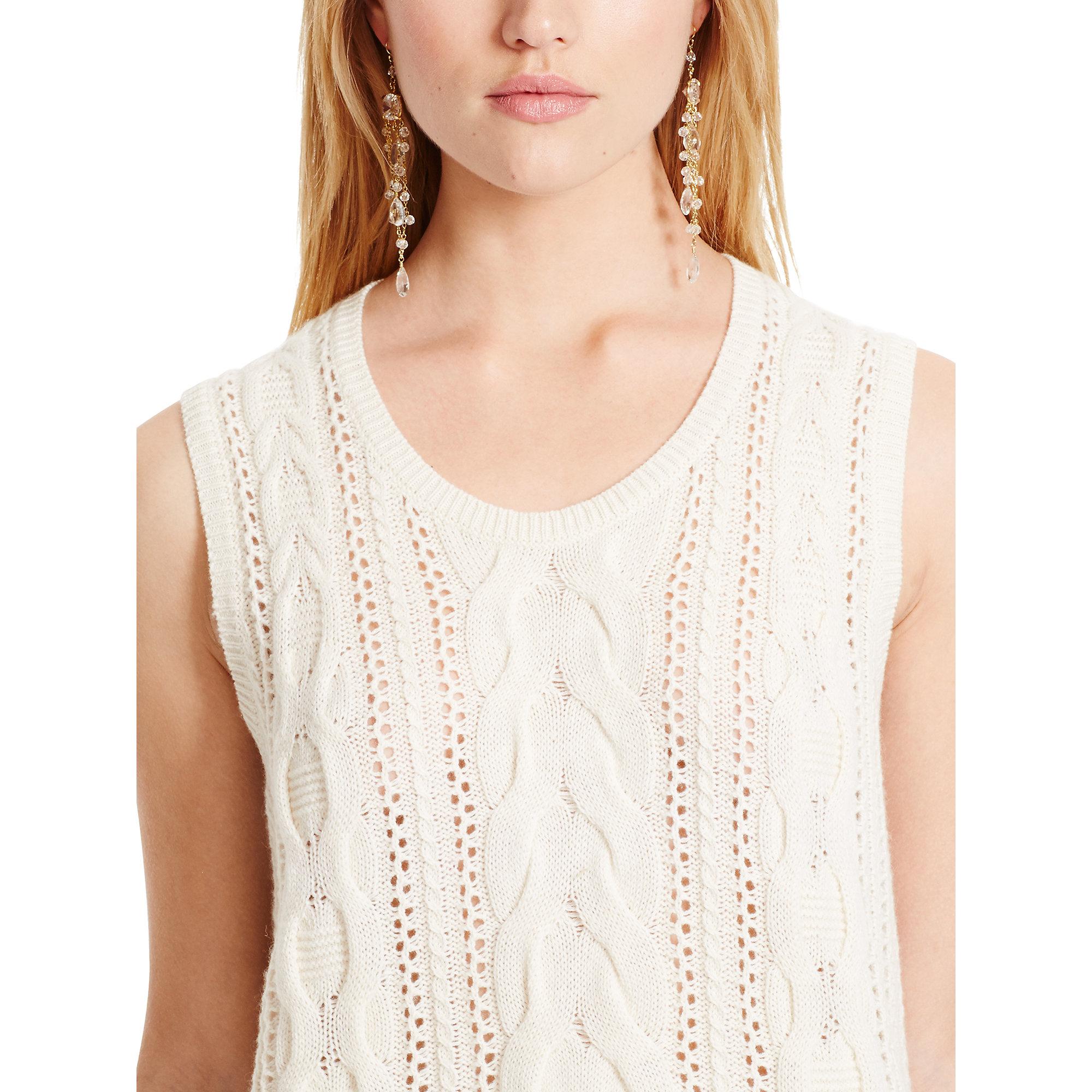 Polo Ralph Lauren Denim Women S Natural Cotton Cable Knit Sweater