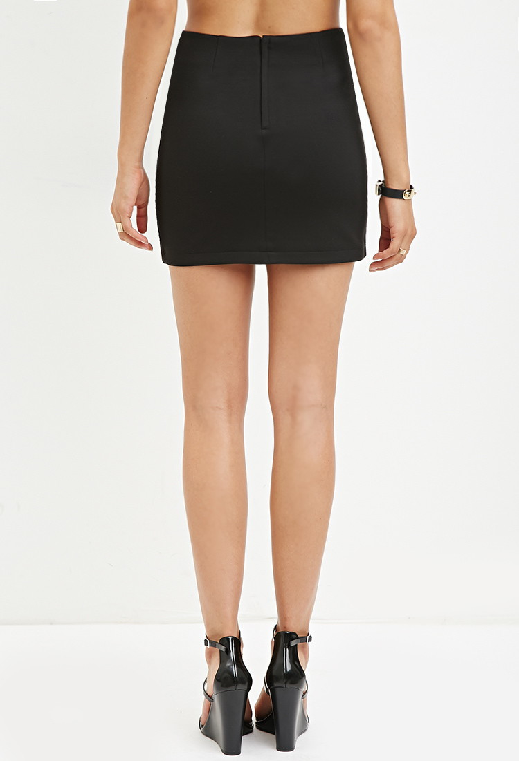 Forever 21 Quilted Faux Leather Skirt You've Been Added To The ...