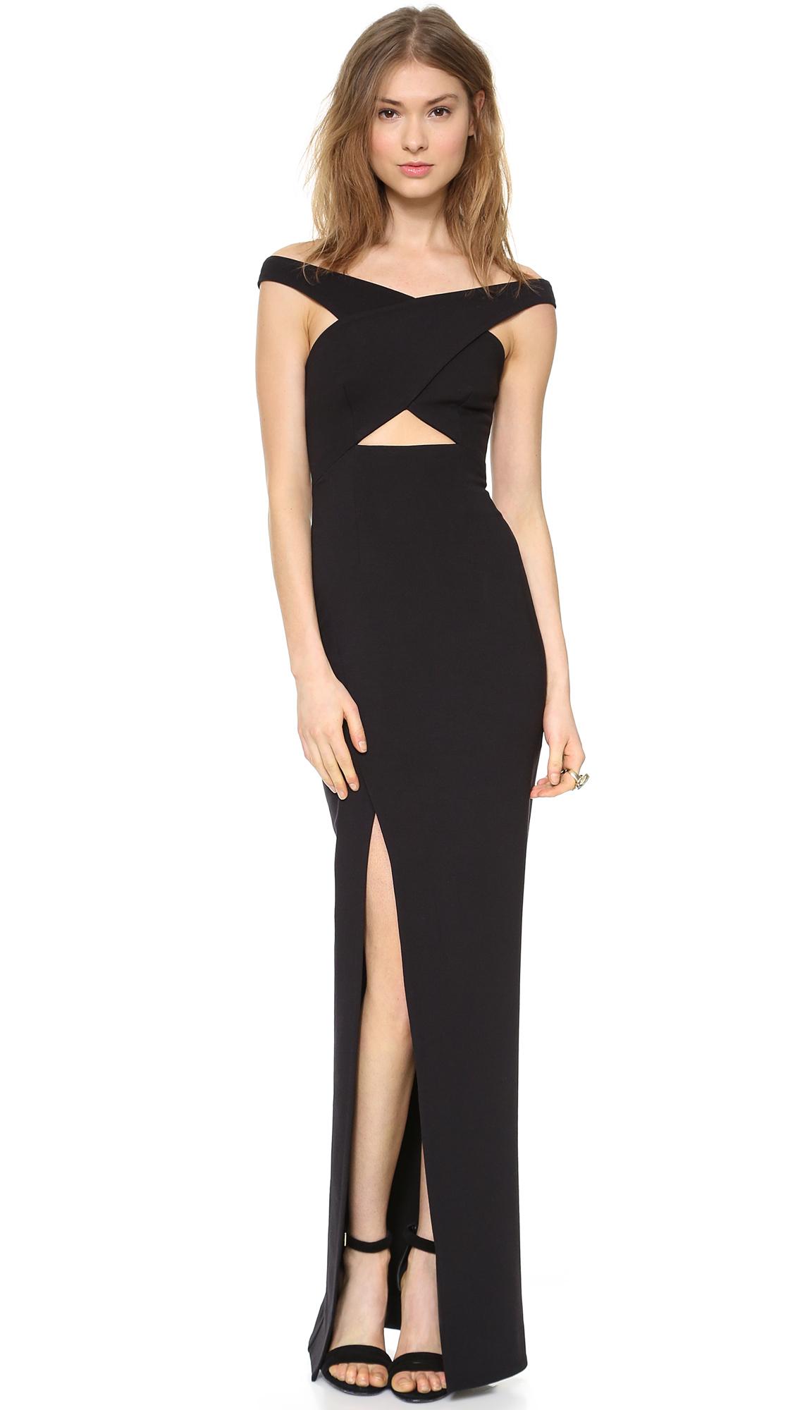 Lyst Nicholas Event Crossover Maxi Dress White In Black