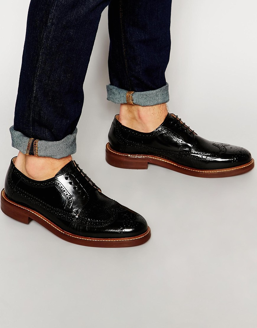 Buy Men Shoes / H By Hudson Callaghan Derby Hi Gloss Brogue Shoes