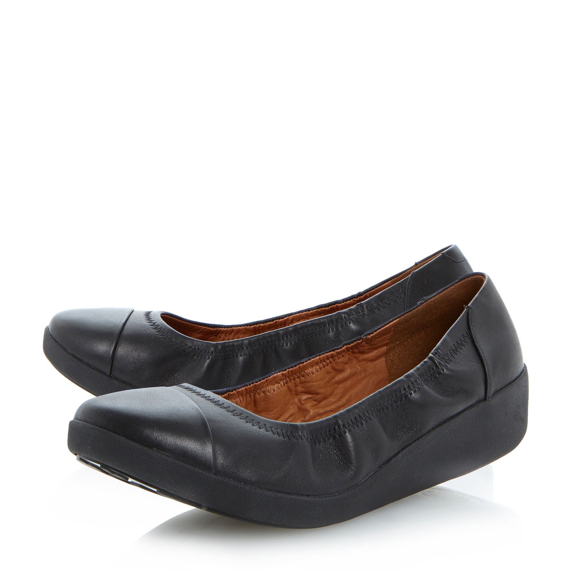 fitflop f pop ballerina shoes in black lyst