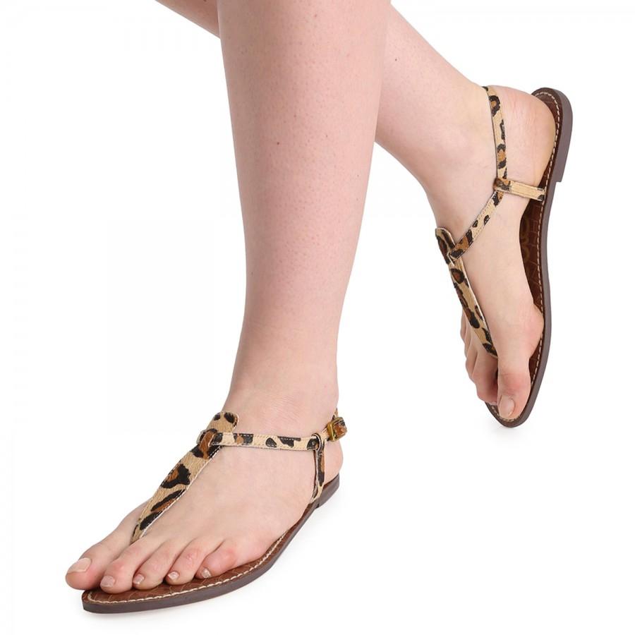 c61f88e29734 Sam Edelman Gigi Leopard Print Calf Hair Sandals - Lyst