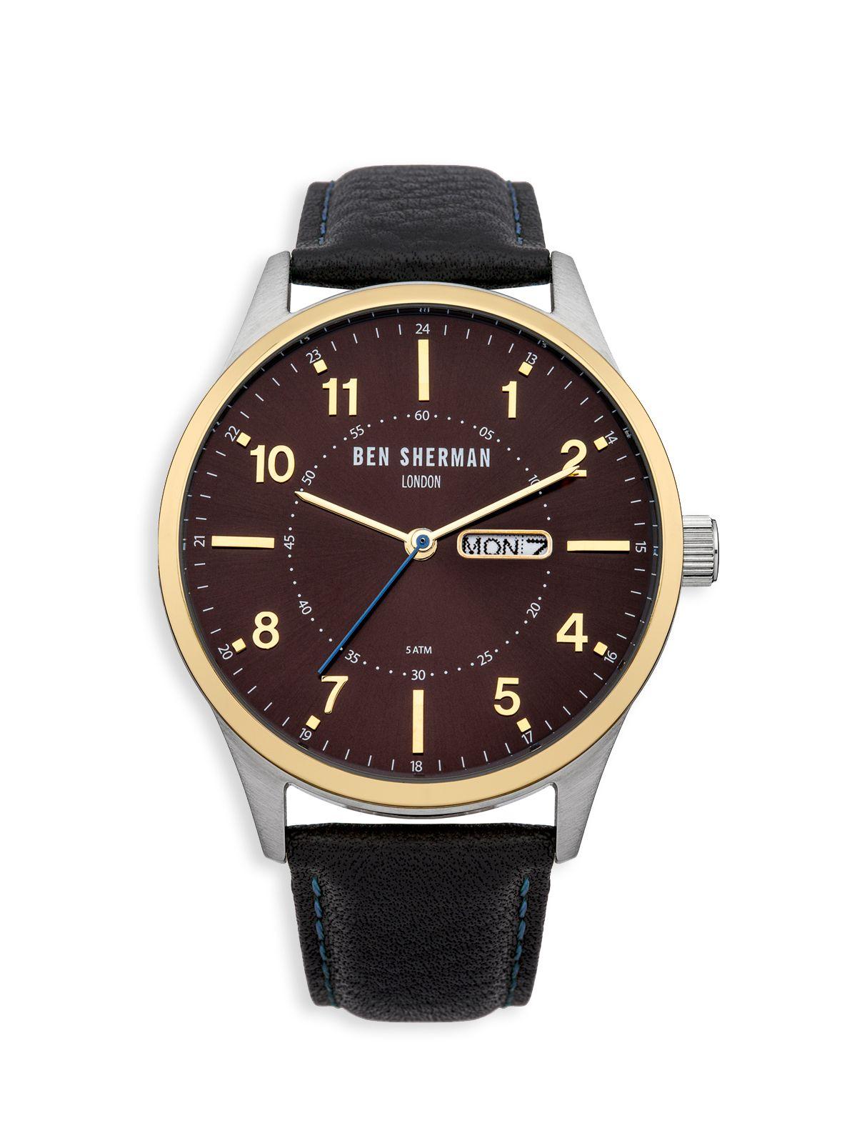 Ben sherman Contrast Sunray Dial Watch in Black for Men